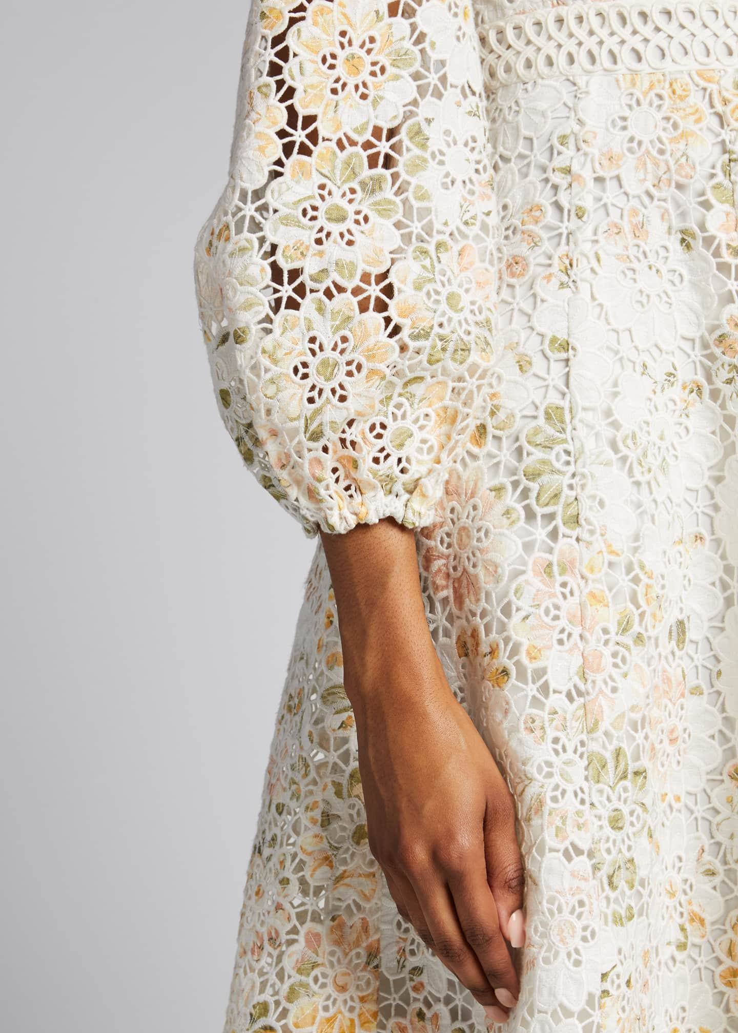 Image 4 of 5: Amelie Embroidered Long Dress