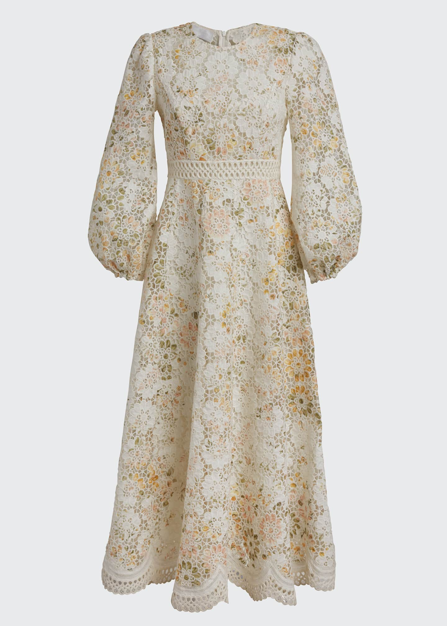 Image 5 of 5: Amelie Embroidered Long Dress