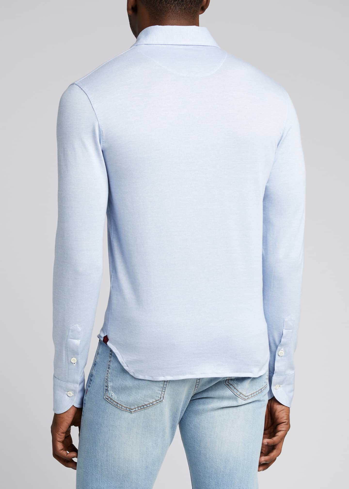 Image 2 of 5: Men's Solid Jersey Sport Shirt