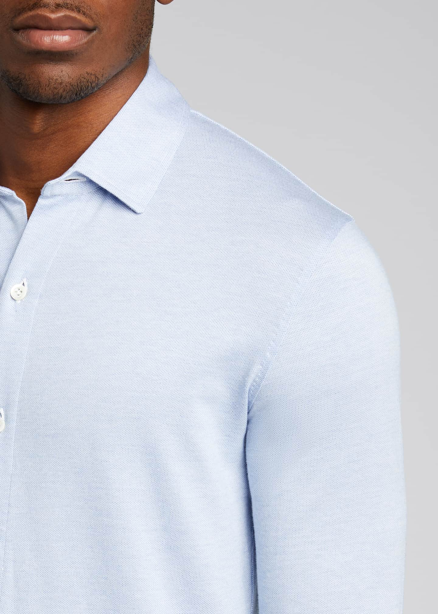 Image 4 of 5: Men's Solid Jersey Sport Shirt
