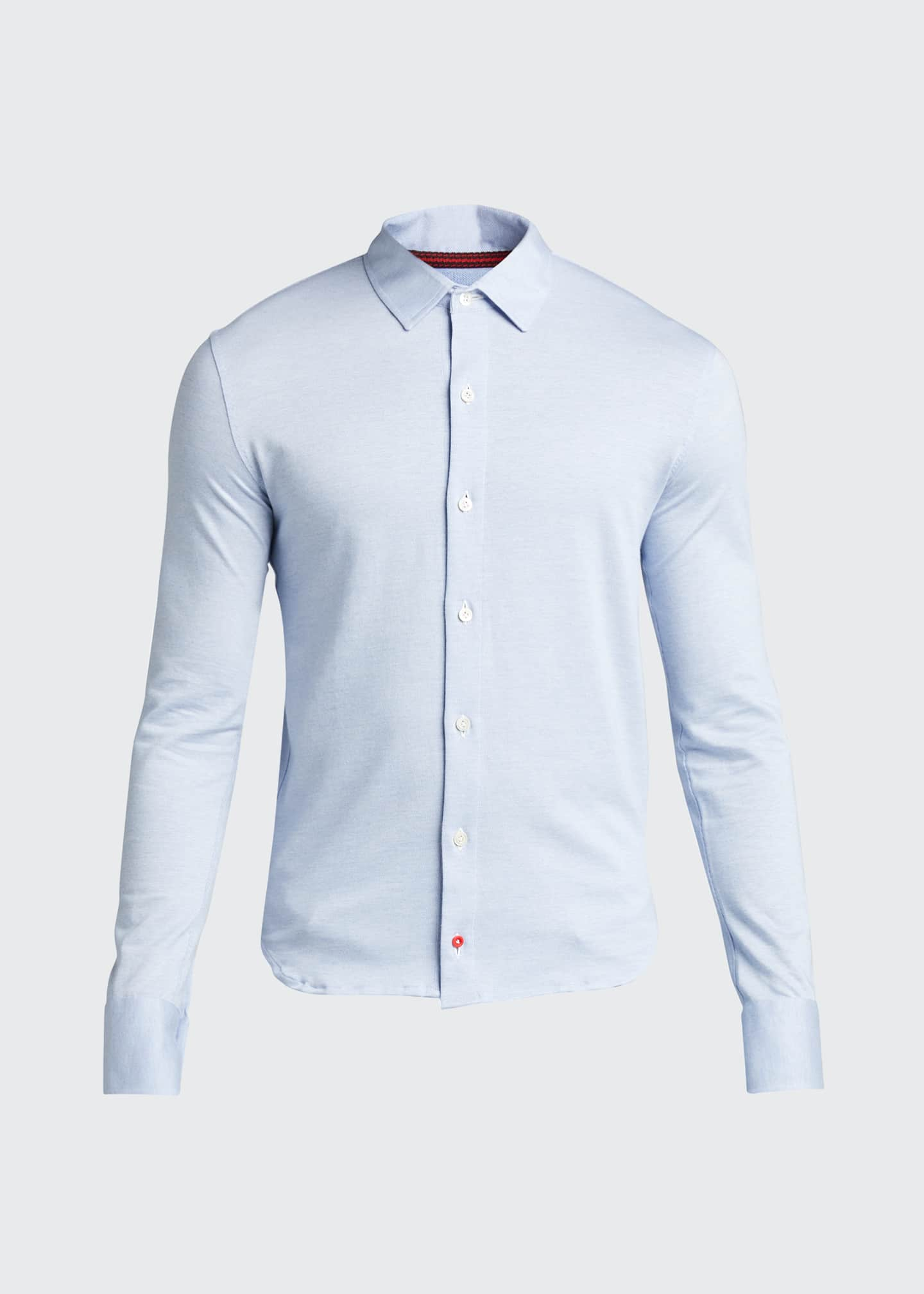 Image 5 of 5: Men's Solid Jersey Sport Shirt