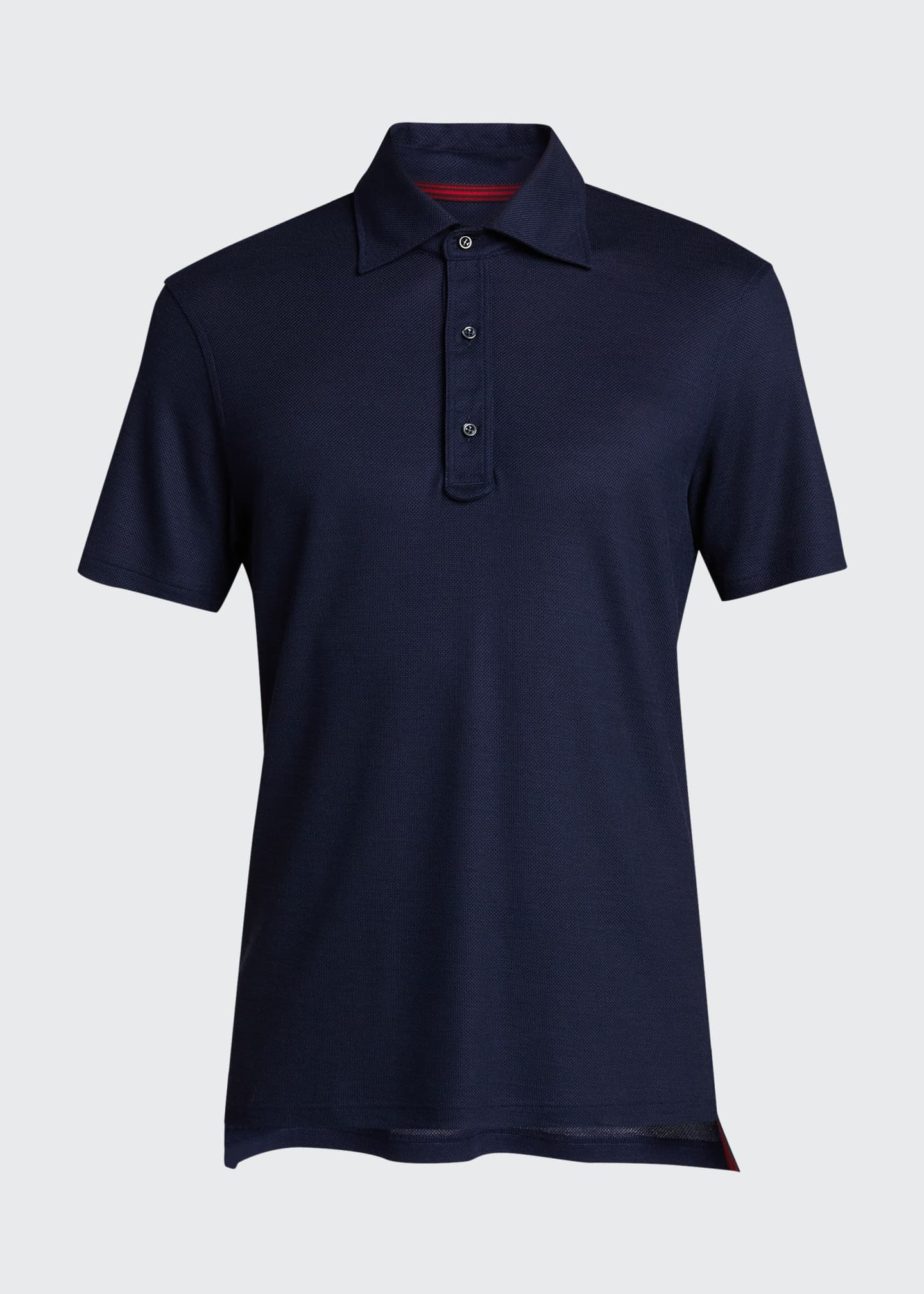 Image 5 of 5: Men's Grand Pique Wool Polo Shirt
