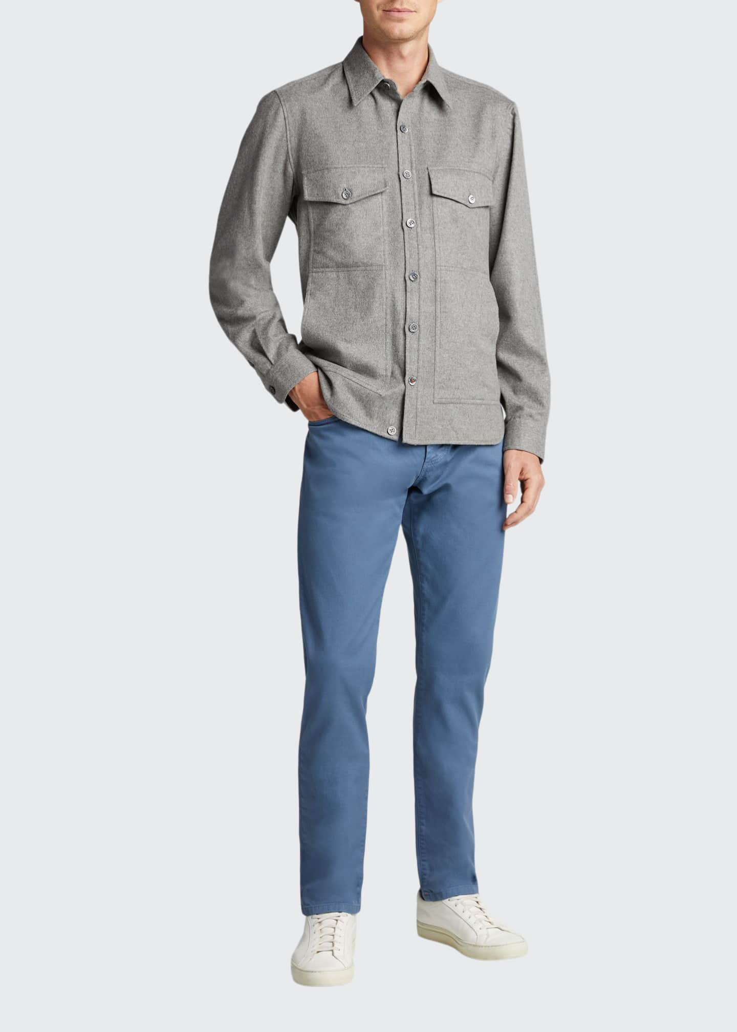 Image 1 of 5: Men's 4-Pocket Wool-Cashmere Overshirt