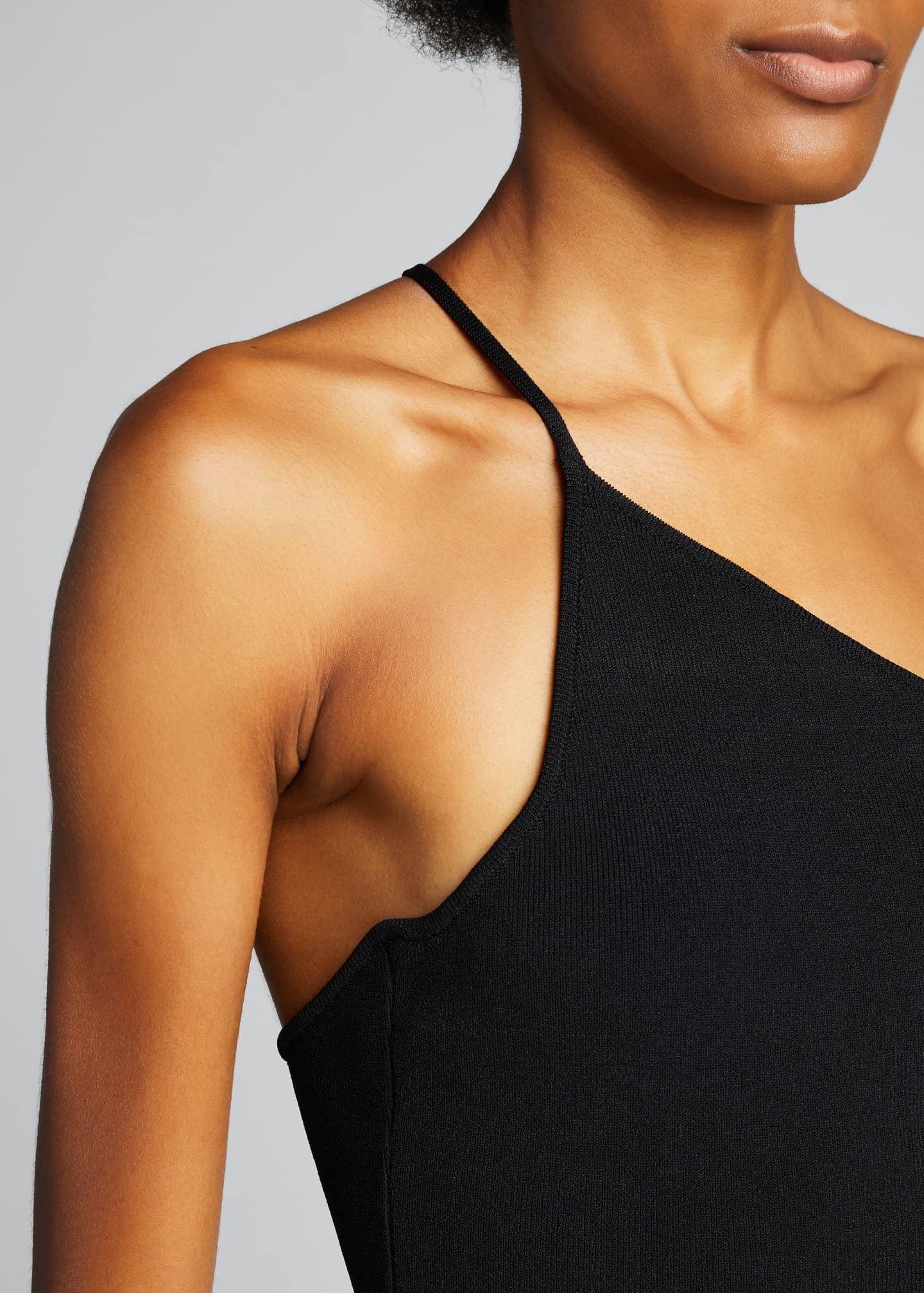 Image 4 of 5: One-Shoulder Jersey Top