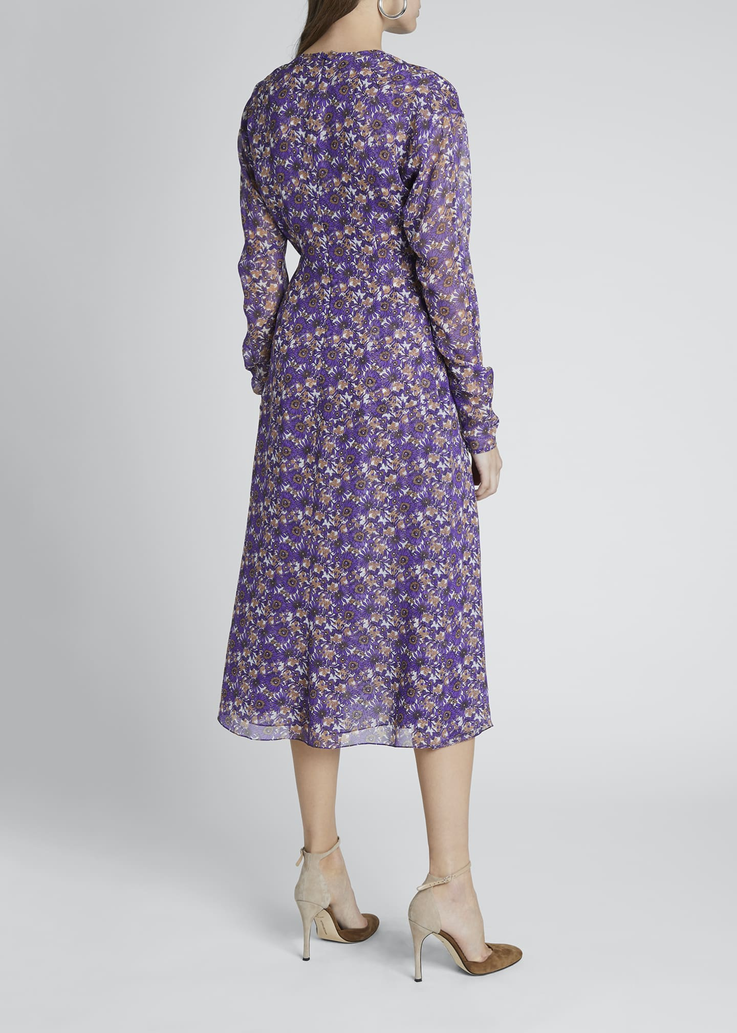 Image 2 of 4: Floral Crewneck A-Line Dress