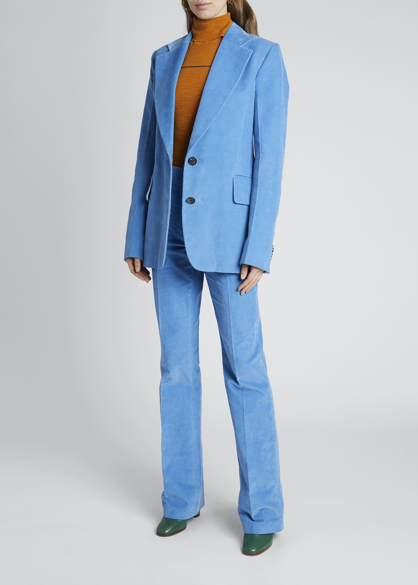 Image 1 of 4: Corduroy Two-Button Blazer