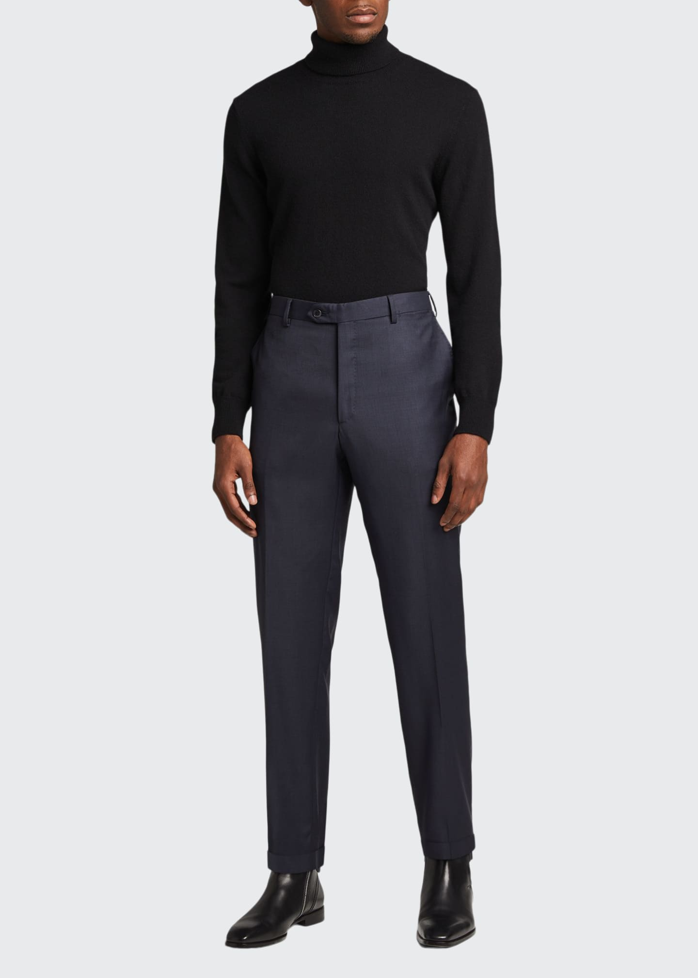 Image 1 of 5: Men's Tigulli Solid Wool Trousers