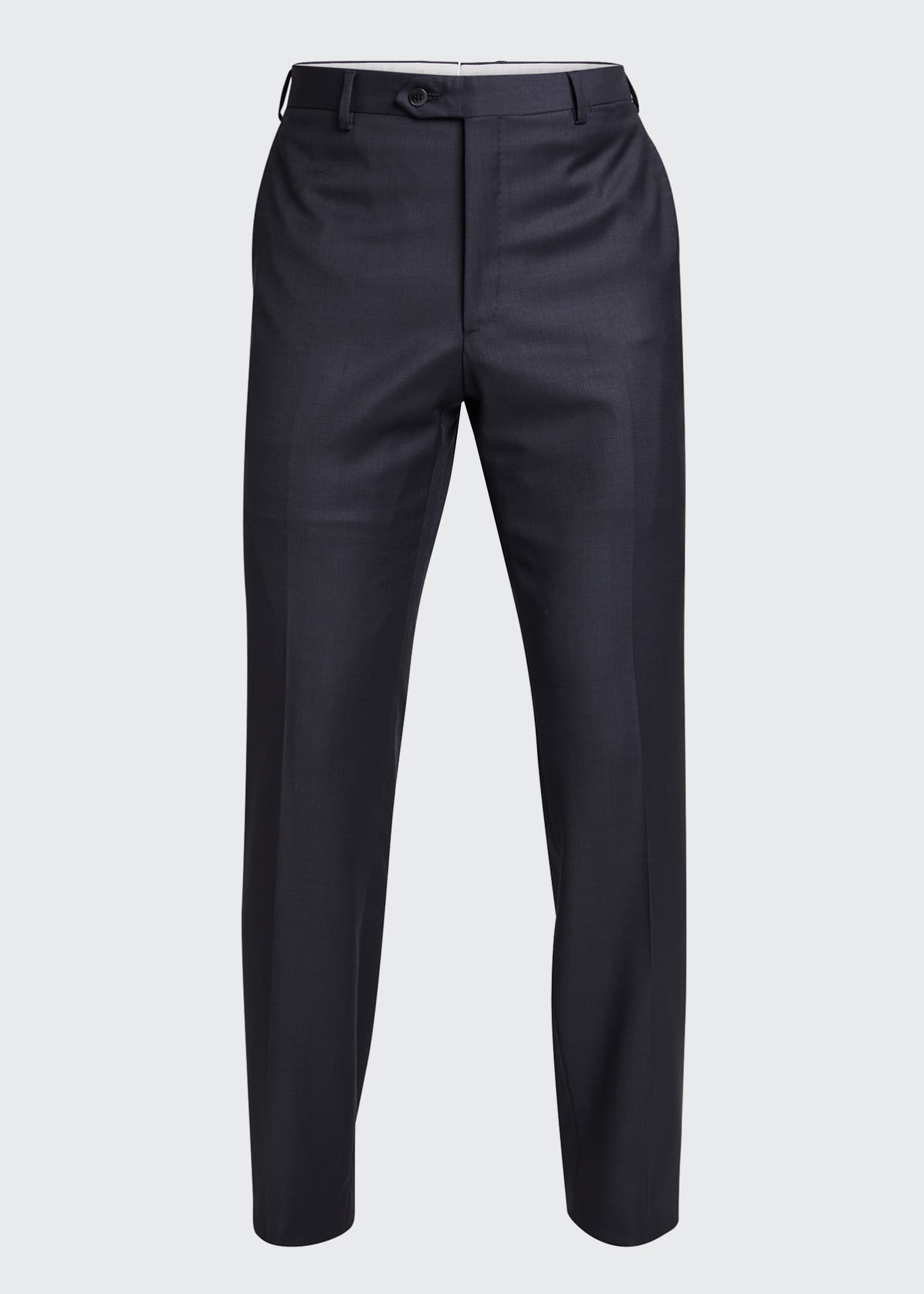 Image 5 of 5: Men's Tigulli Solid Wool Trousers