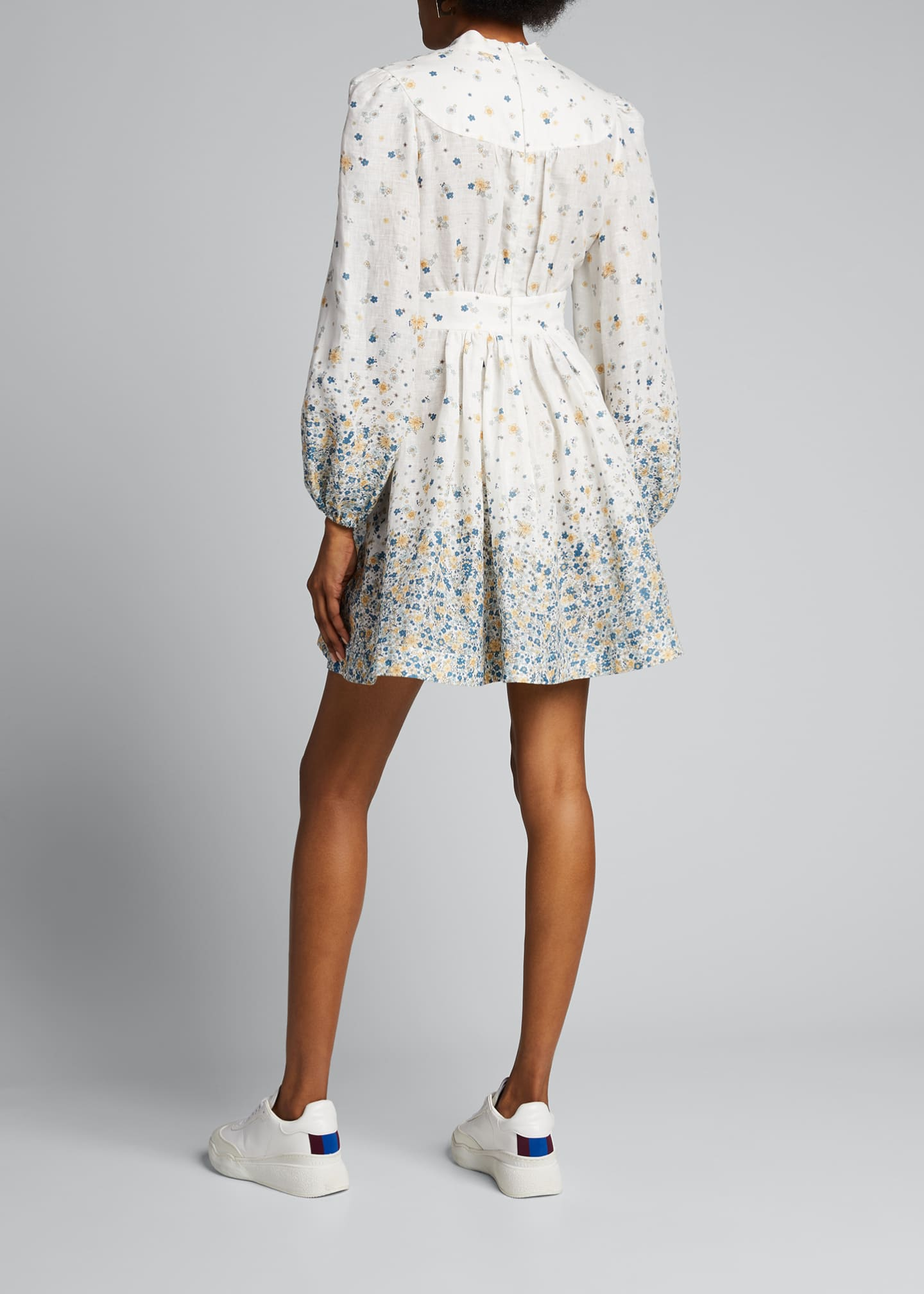 Image 2 of 5: Carnaby Button-Front Floral Short Dress