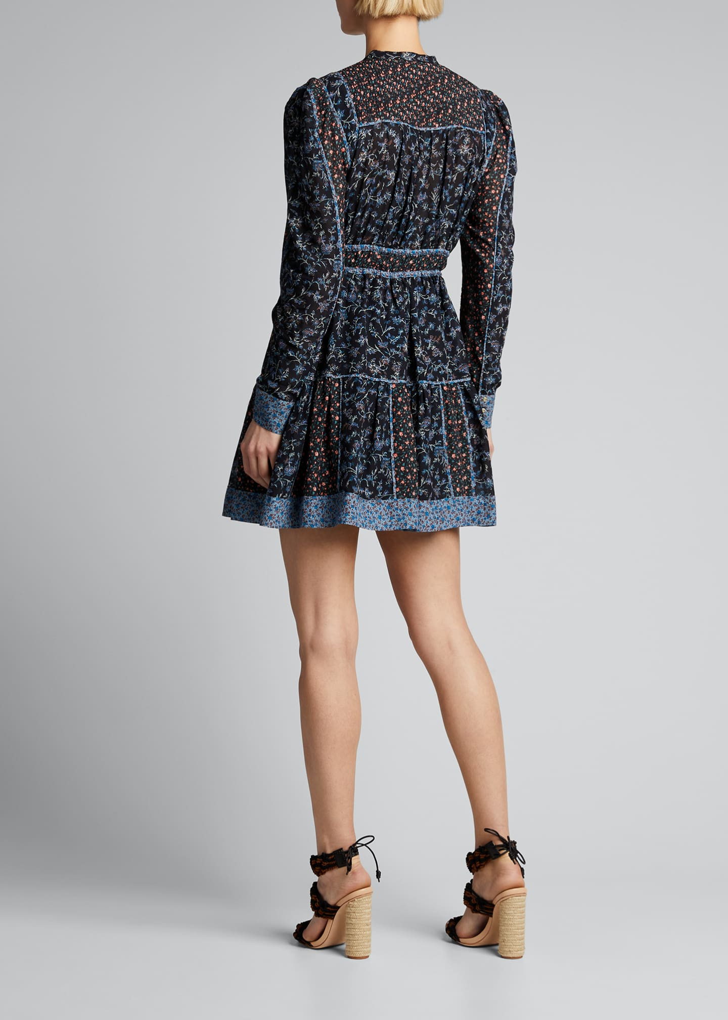Image 2 of 5: Luise Floral-Print Button-Front Dress