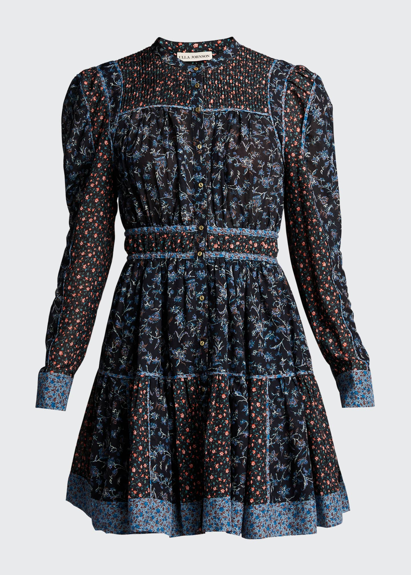 Image 5 of 5: Luise Floral-Print Button-Front Dress