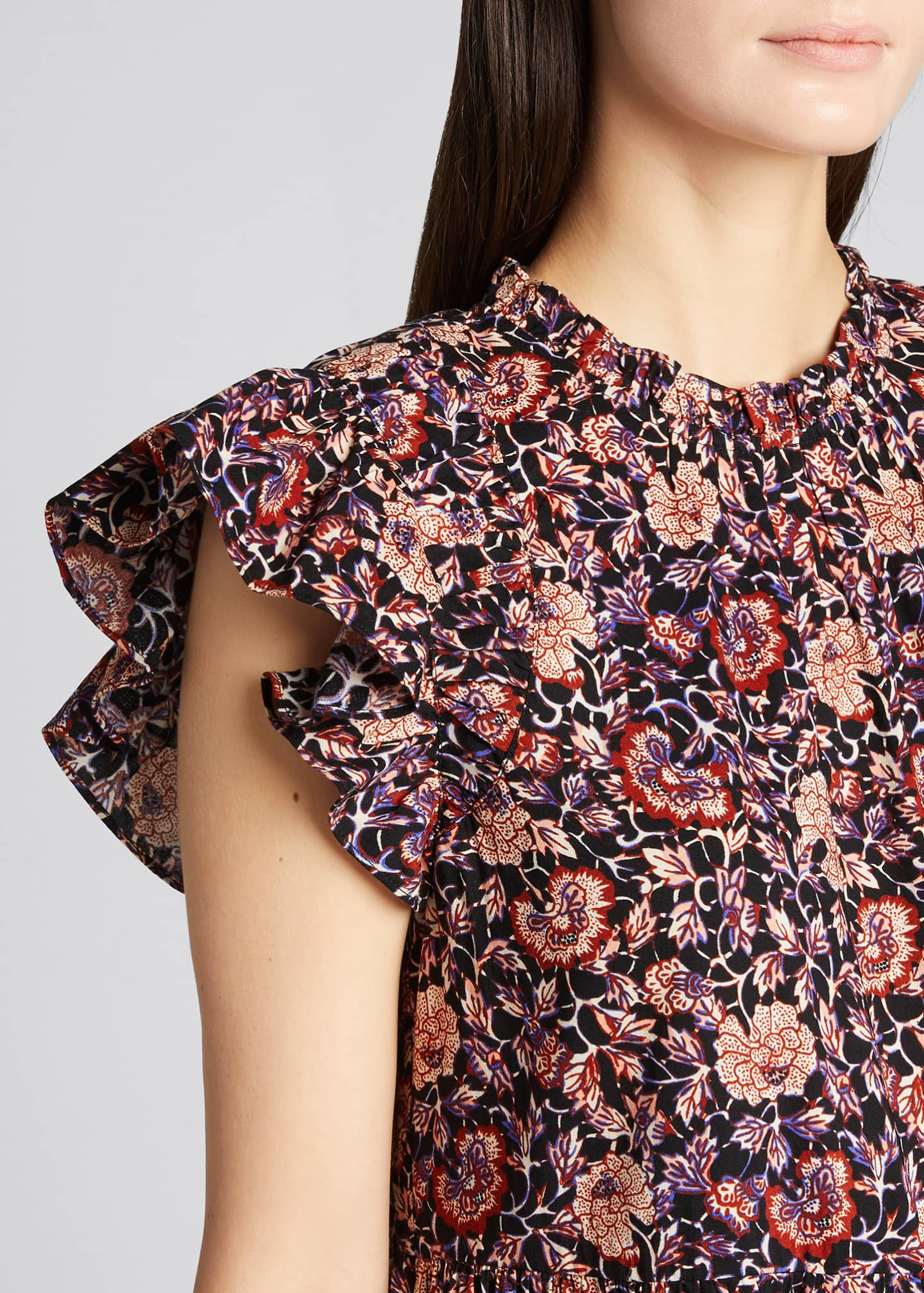 Image 4 of 5: Hana Floral Short-Sleeve Dress