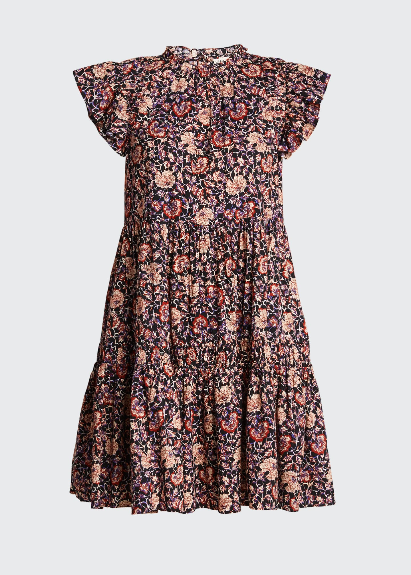 Image 5 of 5: Hana Floral Short-Sleeve Dress