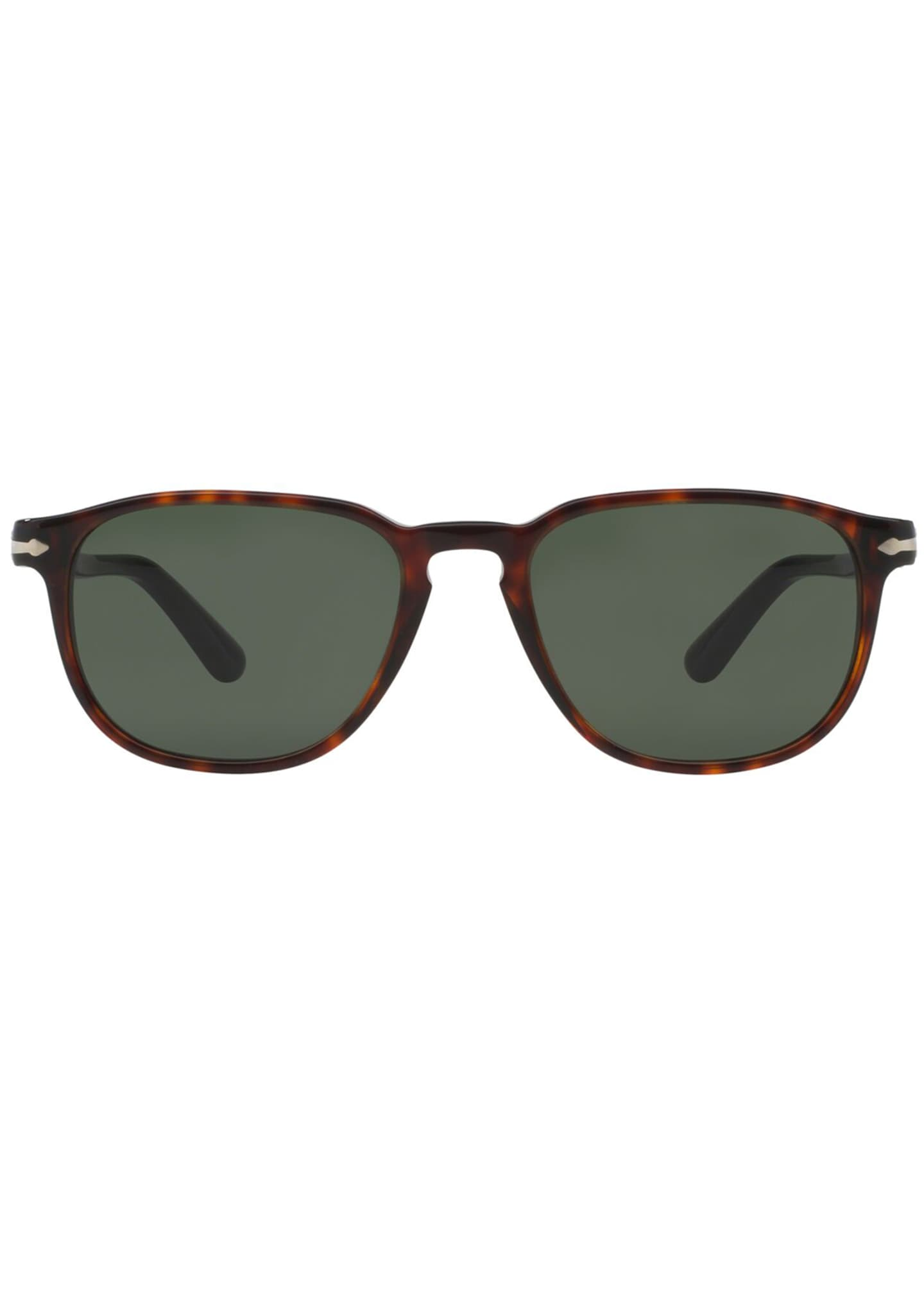 Image 2 of 2: Men's Square Patterned Acetate Sunglasses