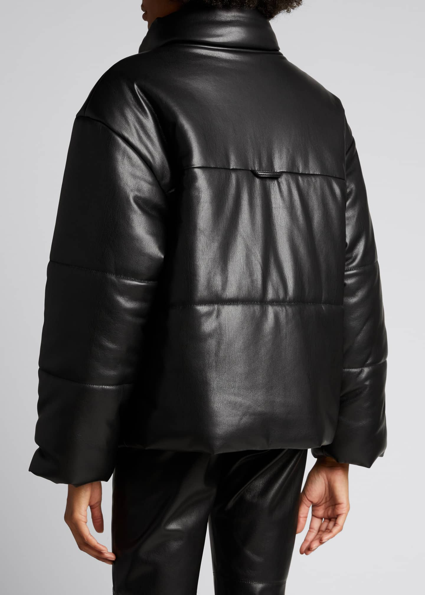 Image 2 of 4: Hide Vegan Leather Puffer Jacket