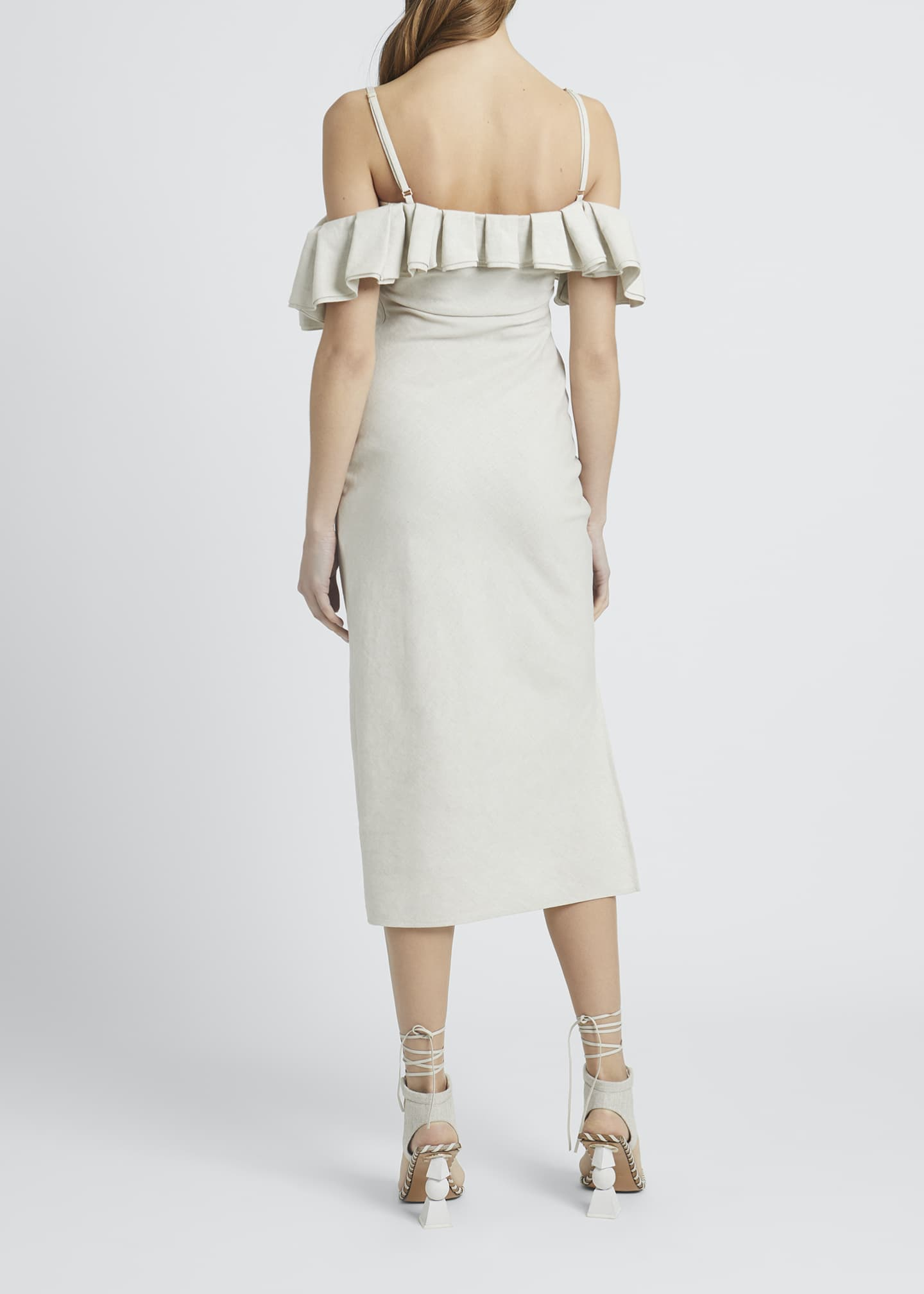 Image 2 of 3: Pampelonne Off-Shoulder Ruffle Midi Dress