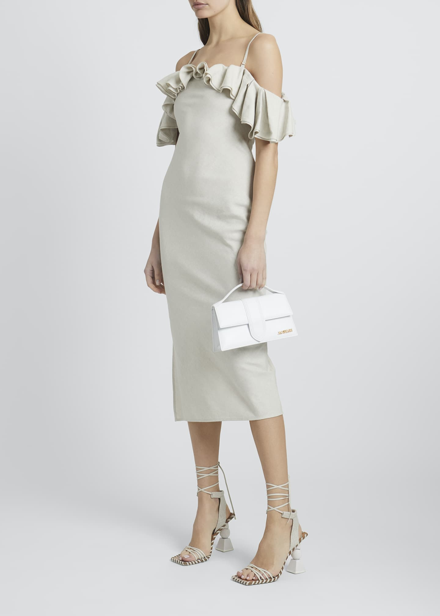 Image 1 of 3: Pampelonne Off-Shoulder Ruffle Midi Dress