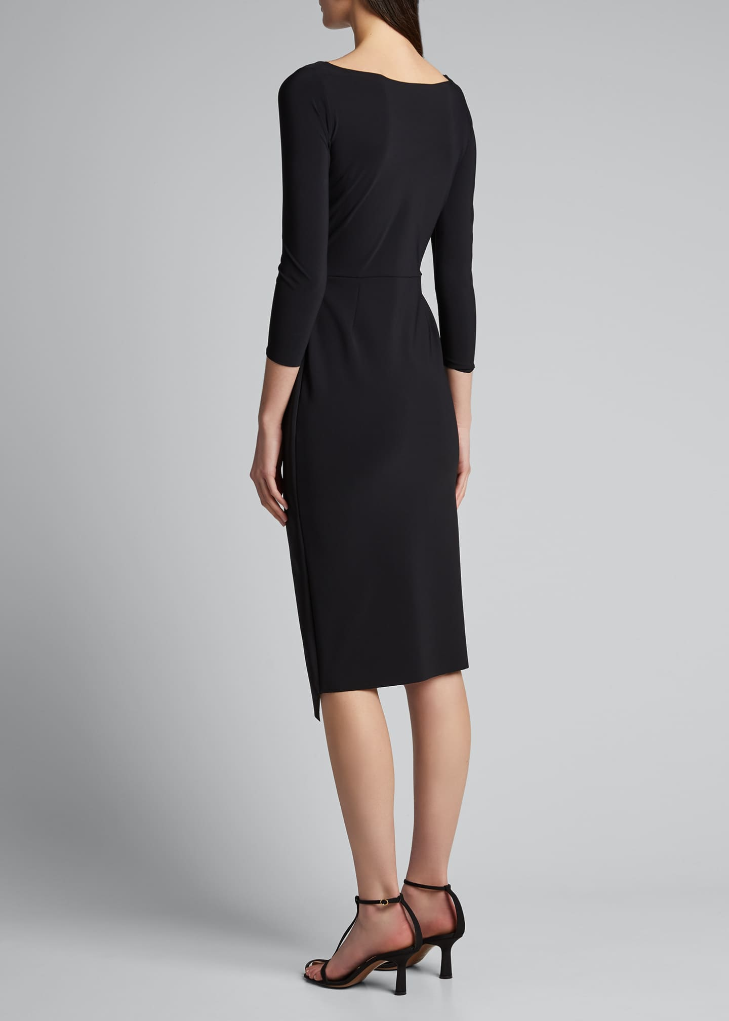 Image 2 of 5: Sotiria V-Neck Jersey Sheath Dress