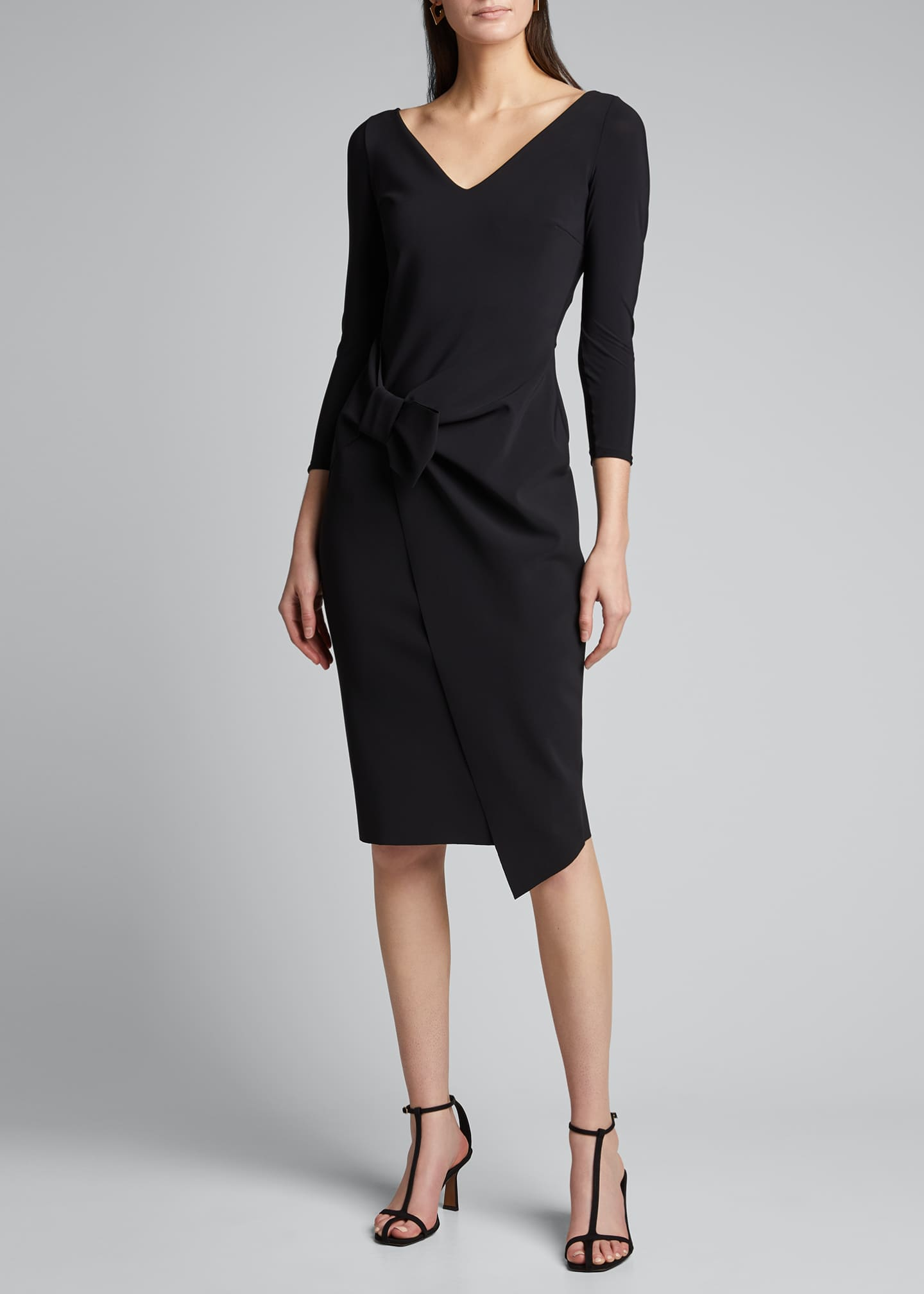 Image 3 of 5: Sotiria V-Neck Jersey Sheath Dress