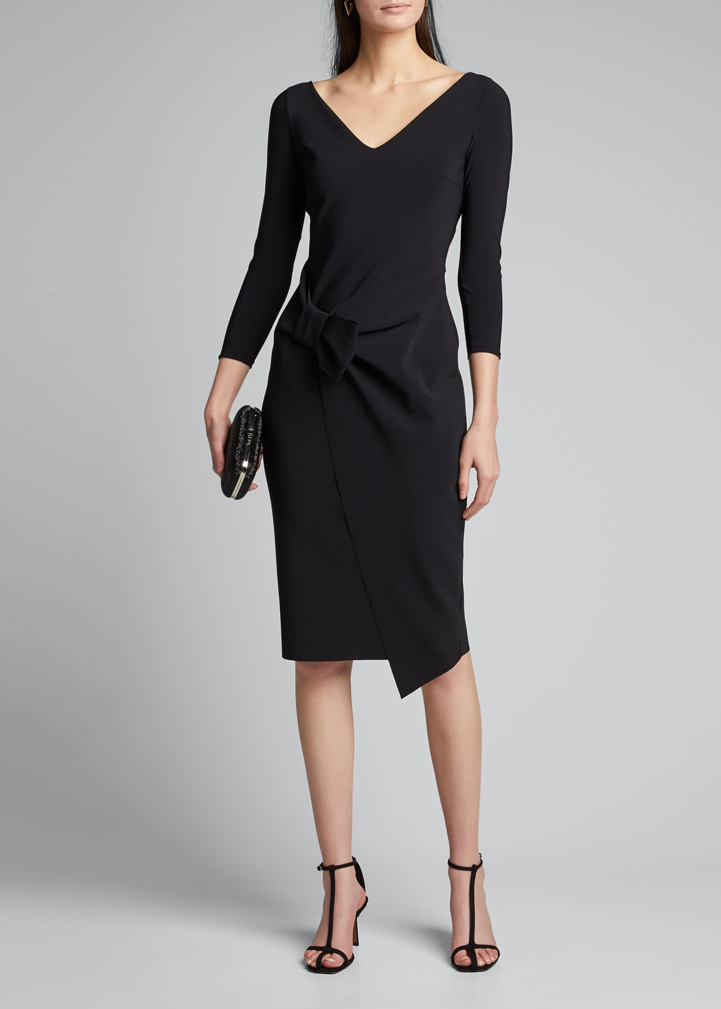 Image 1 of 5: Sotiria V-Neck Jersey Sheath Dress