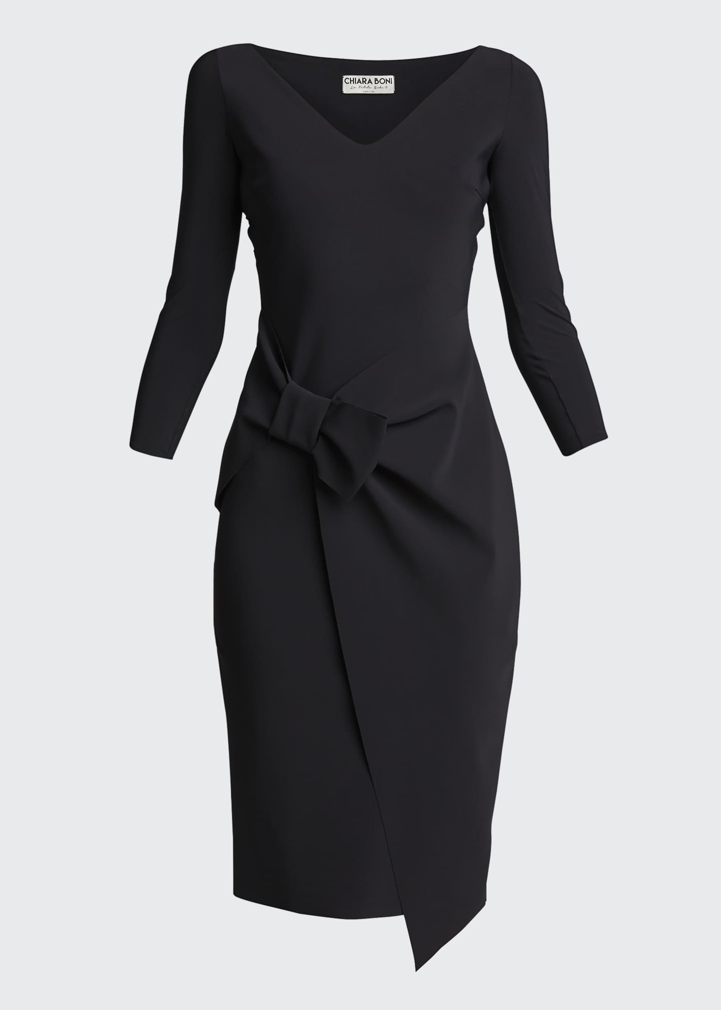 Image 5 of 5: Sotiria V-Neck Jersey Sheath Dress