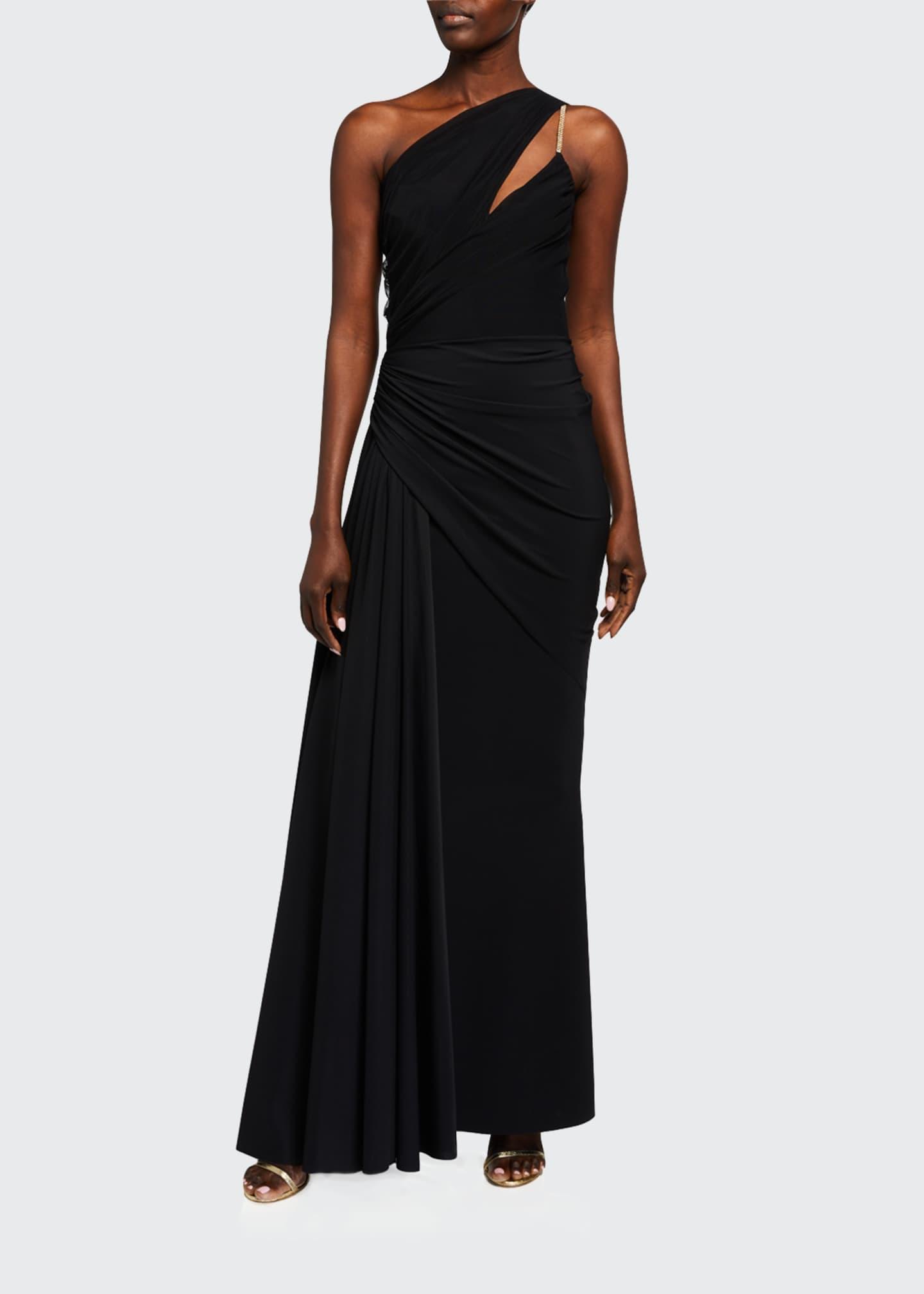 Chiara Boni La Petite Robe Kirin One Shoulder Draped Gown Bergdorf Goodman