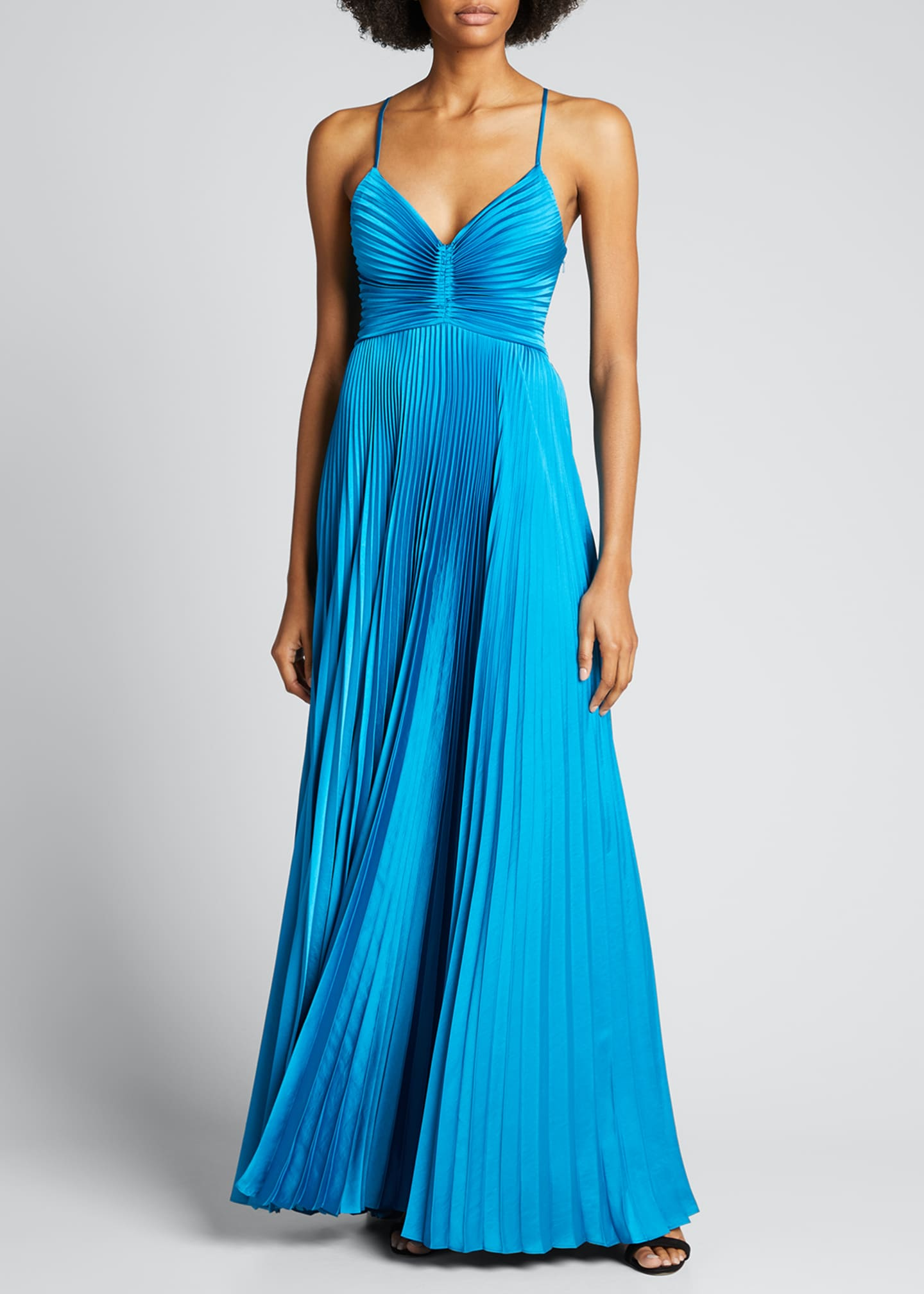 Image 1 of 4: Aries Pleated Gown