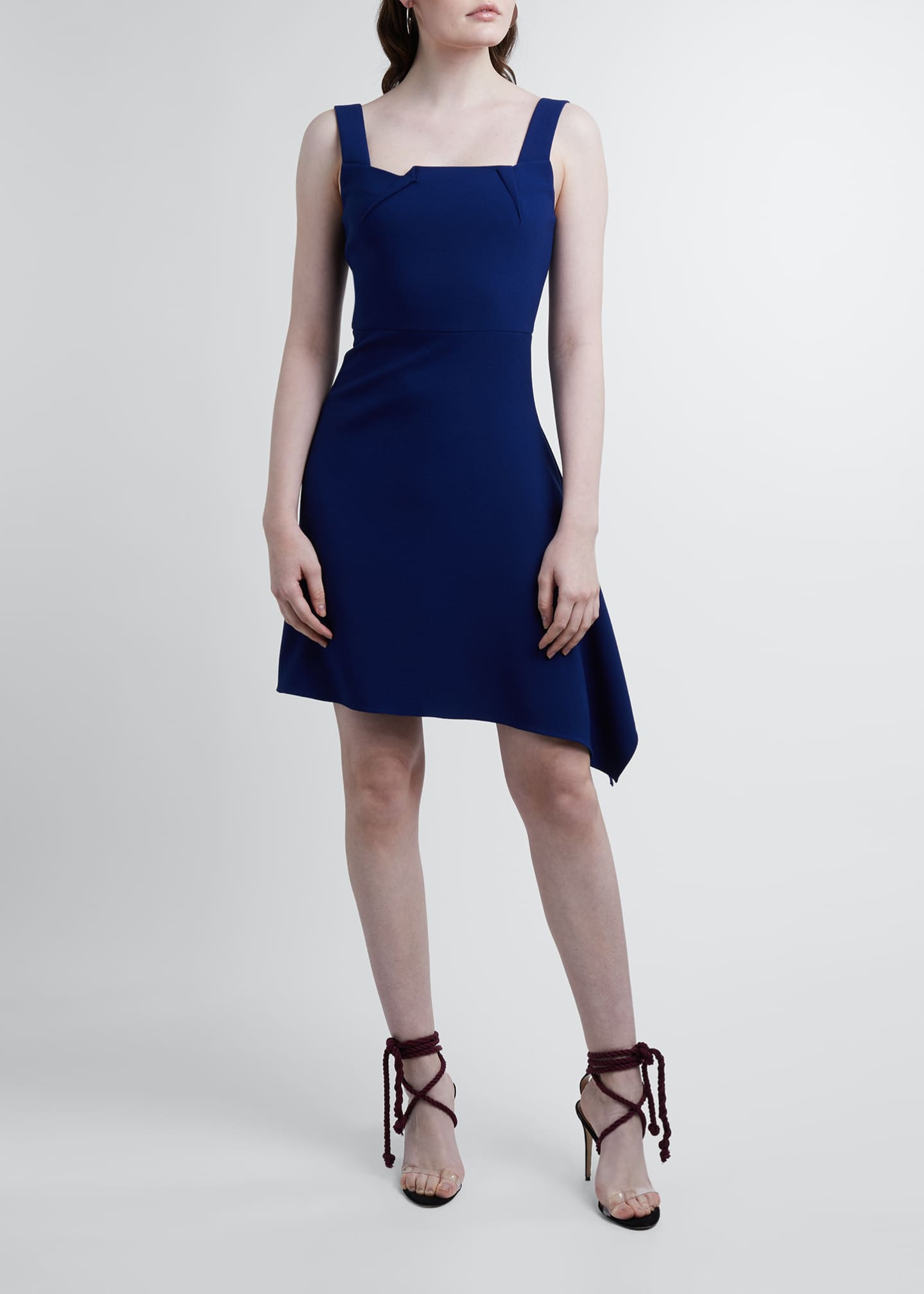 Image 1 of 3: Caracalla Crepe Dress