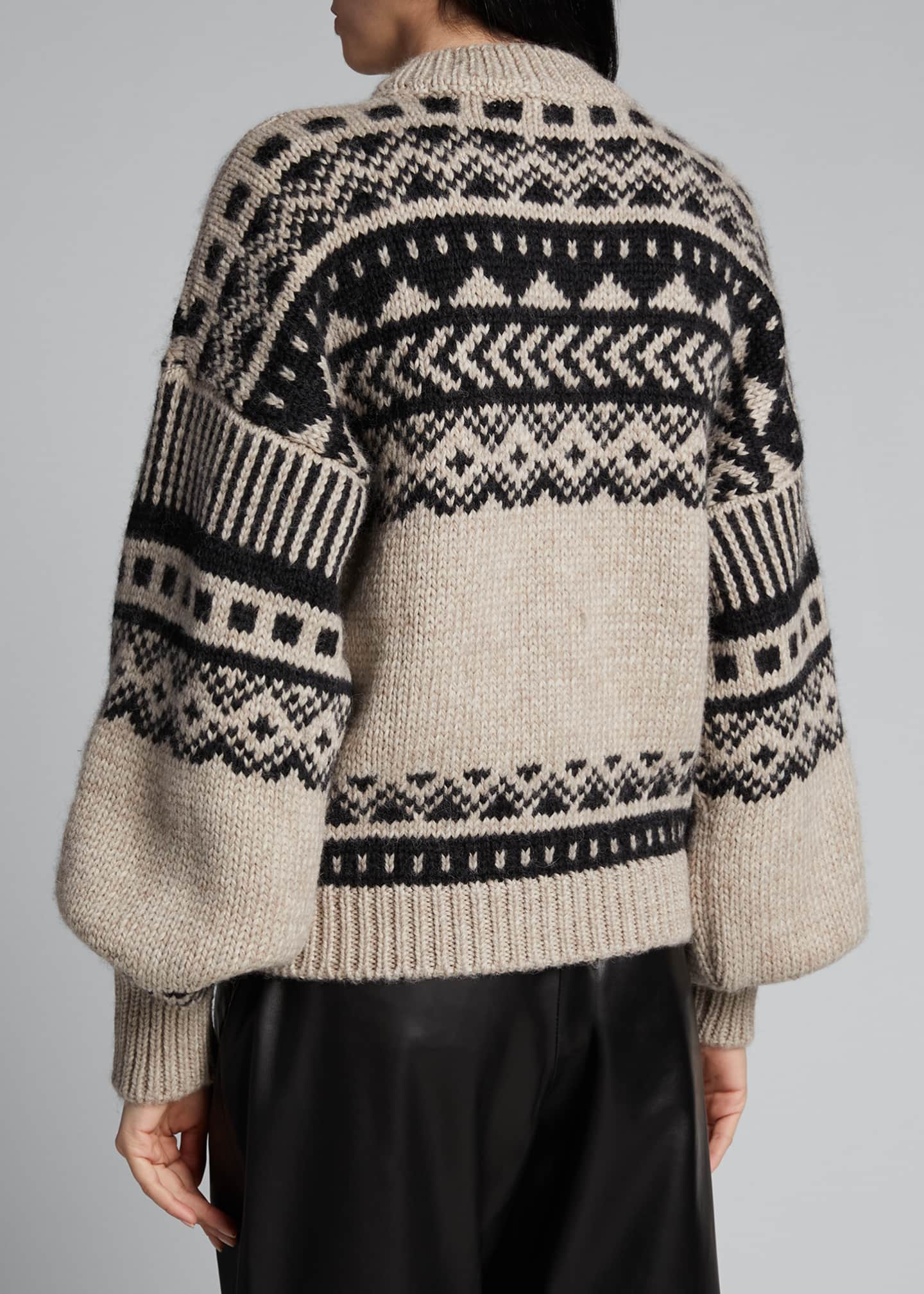 Image 2 of 5: Fair Isle Oversized Sweater