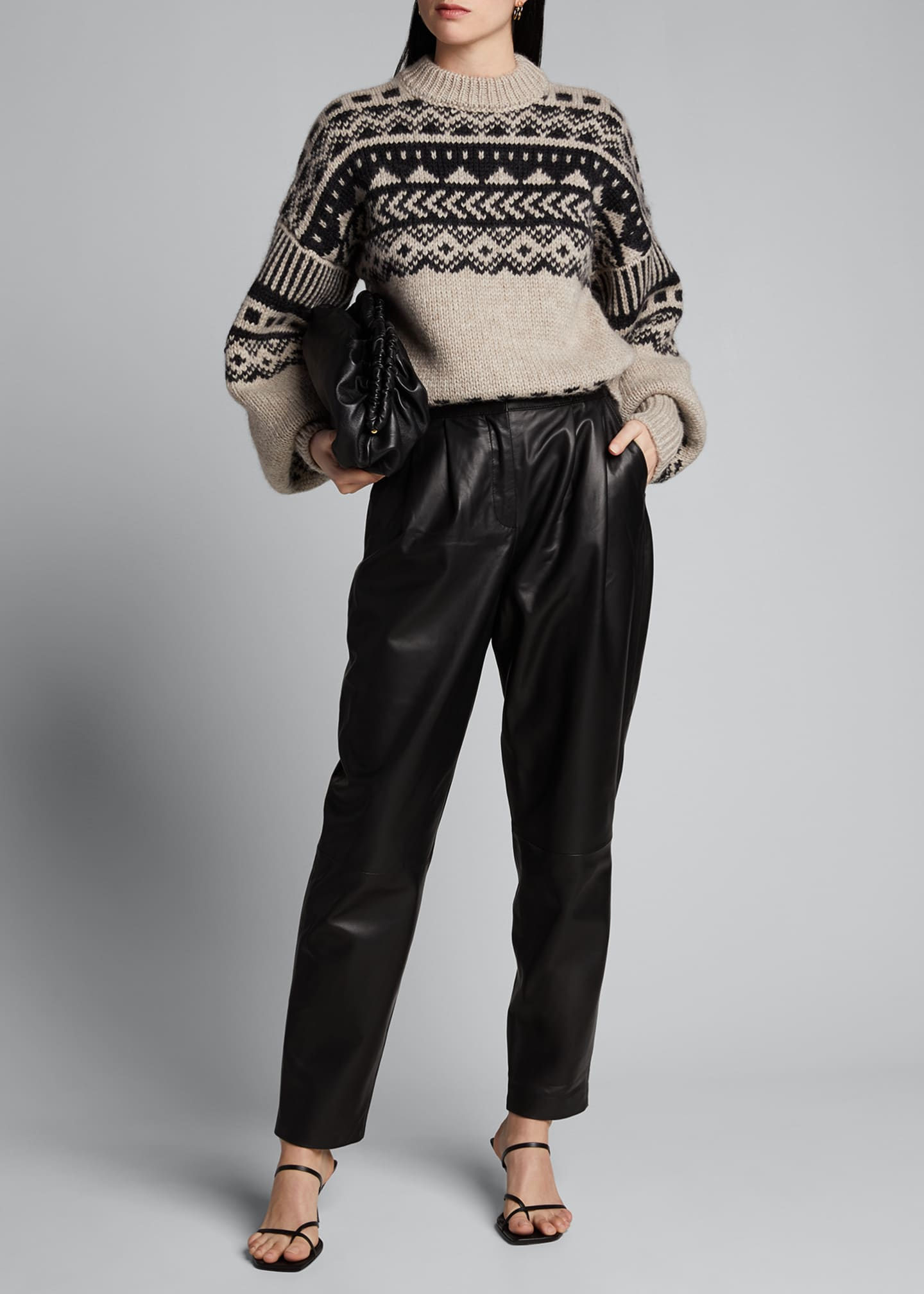 Image 1 of 5: Fair Isle Oversized Sweater
