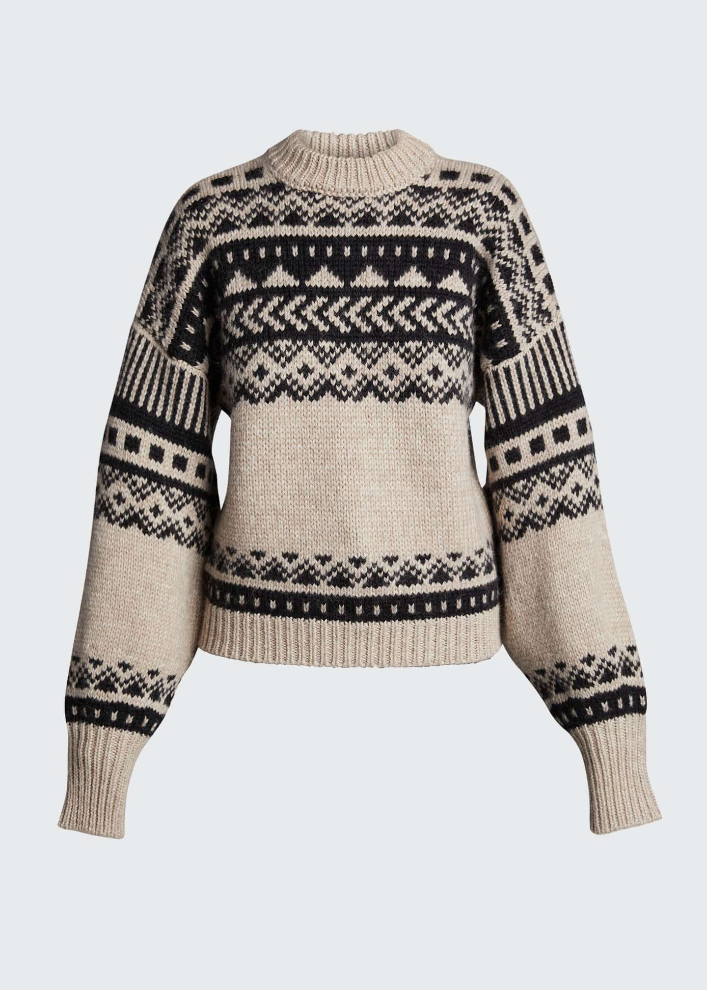 Image 5 of 5: Fair Isle Oversized Sweater