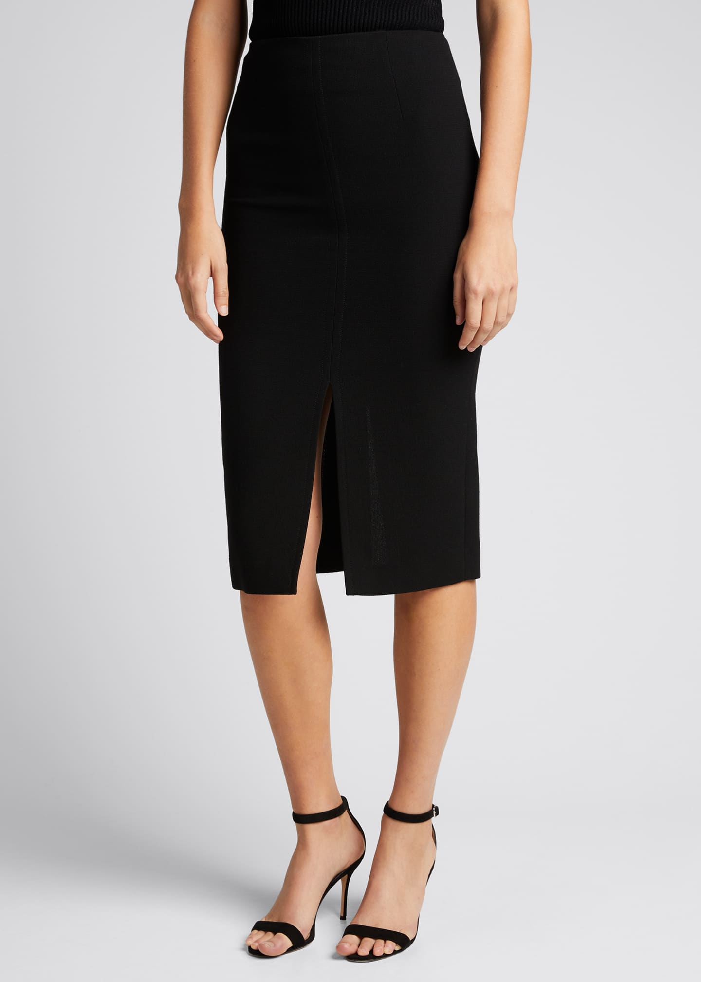 Image 3 of 3: Moka Wool Pencil Skirt