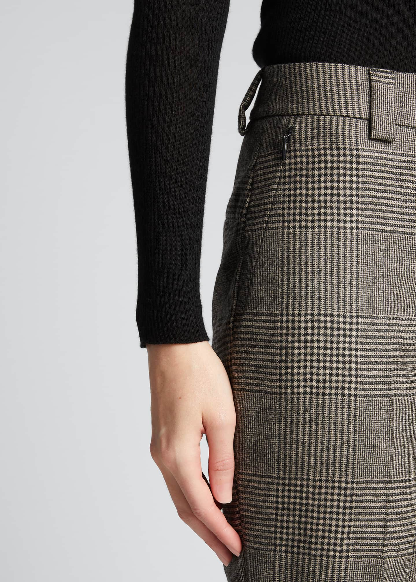 Image 4 of 5: Maxima Plaid Wool Cuffed Pants