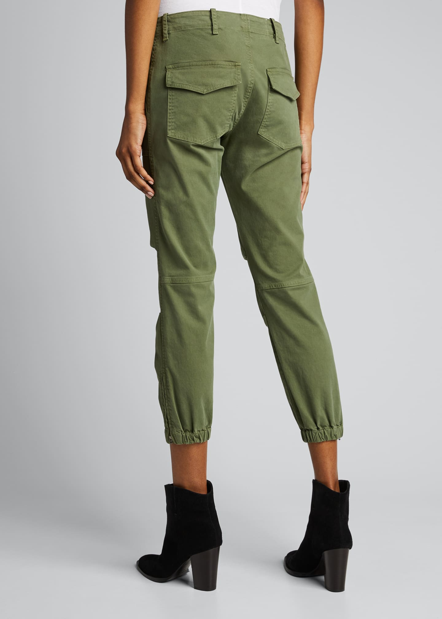 Image 2 of 5: Cropped Military Pants
