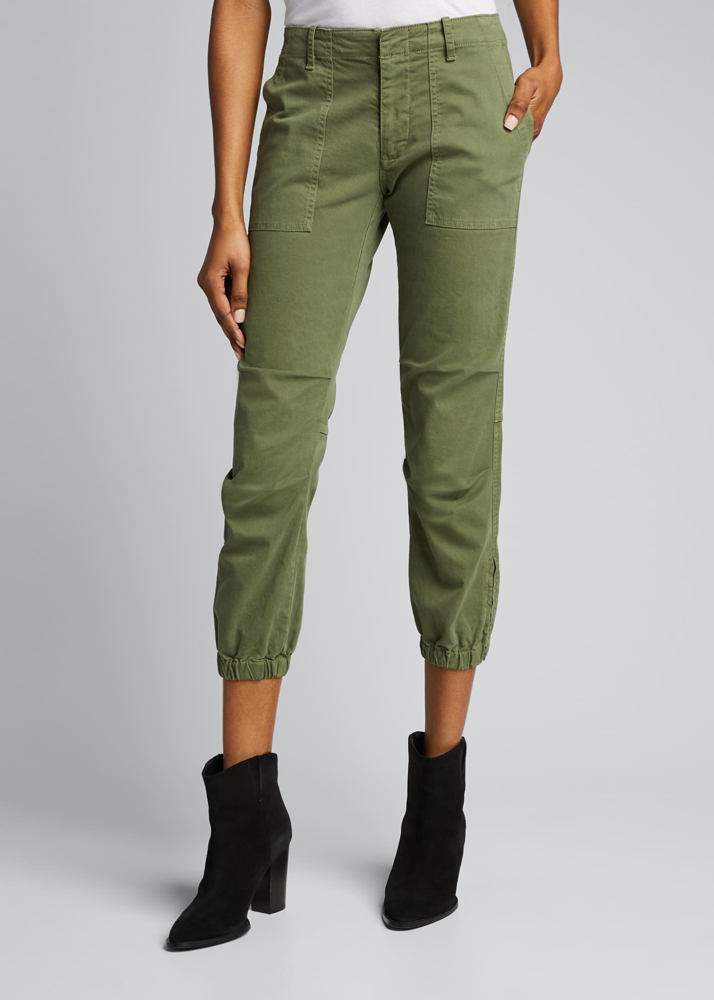 Image 3 of 5: Cropped Military Pants