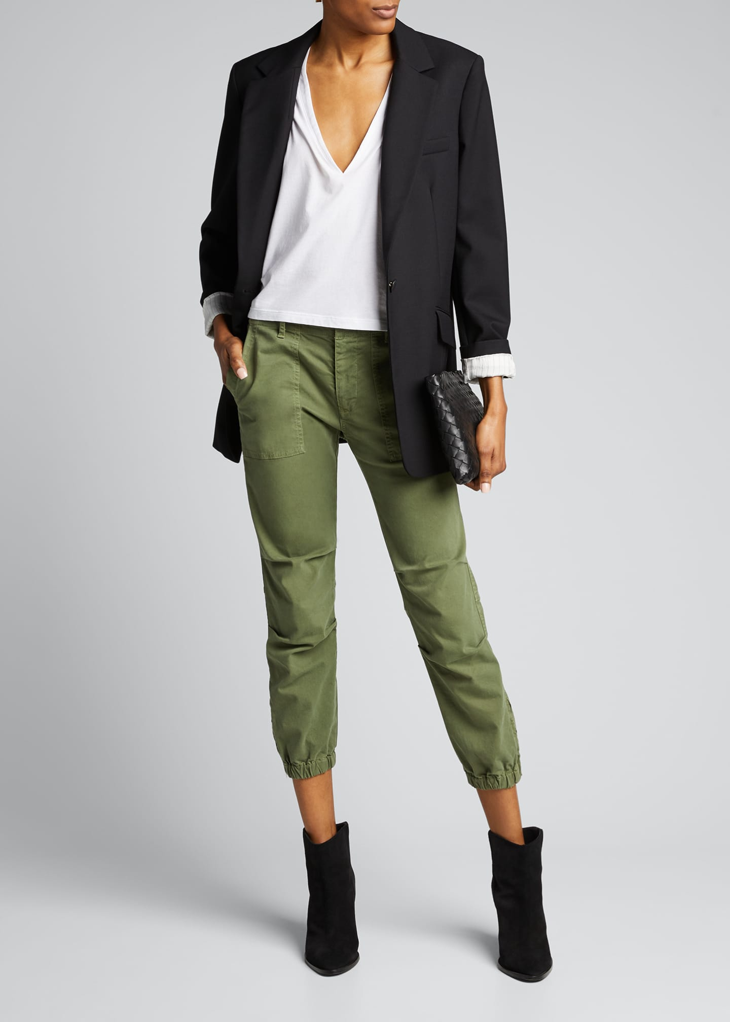 Image 1 of 5: Cropped Military Pants