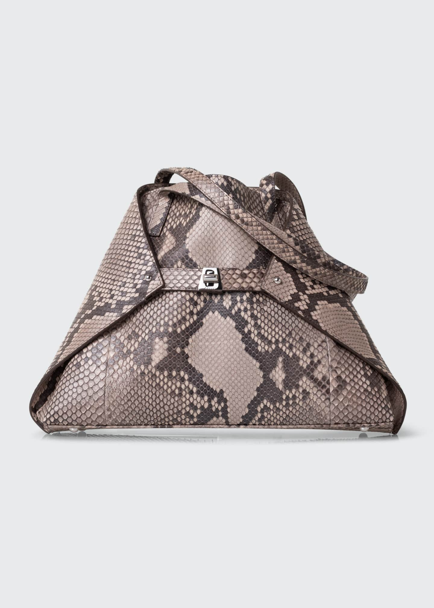 Image 1 of 4: AI Small Soft Python Shoulder Tote Bag