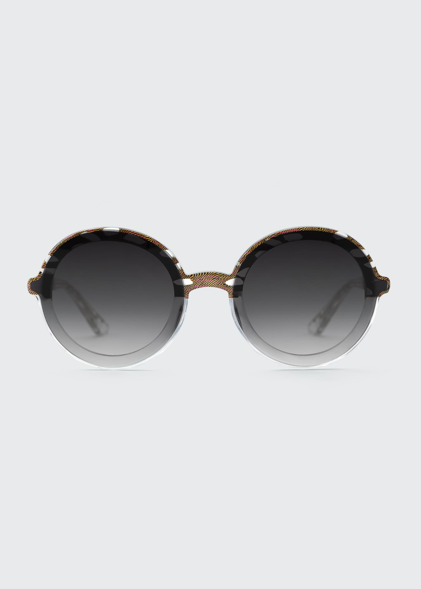 Image 2 of 2: Louisa Nylon Round Sunglasses