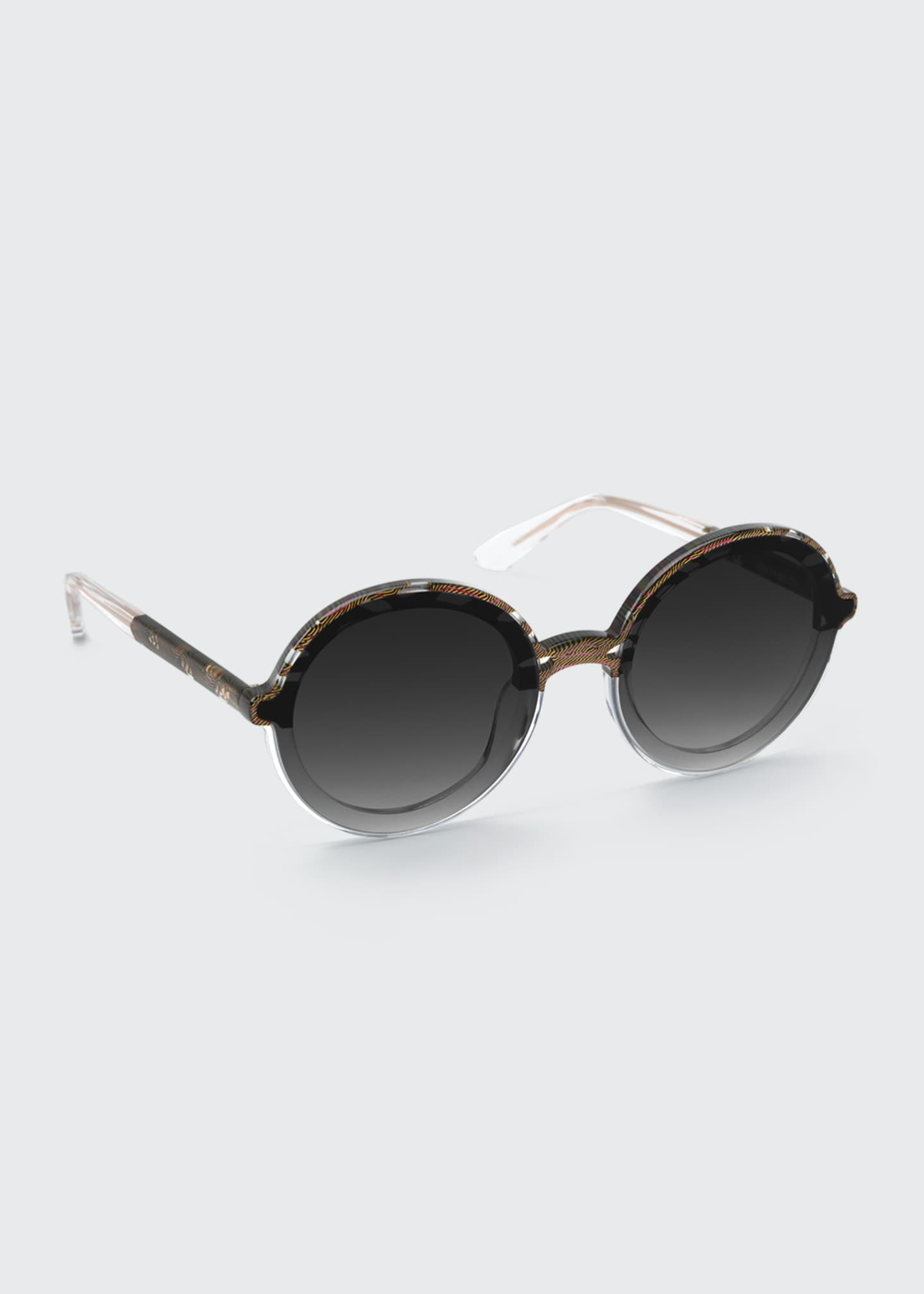 Image 1 of 2: Louisa Nylon Round Sunglasses
