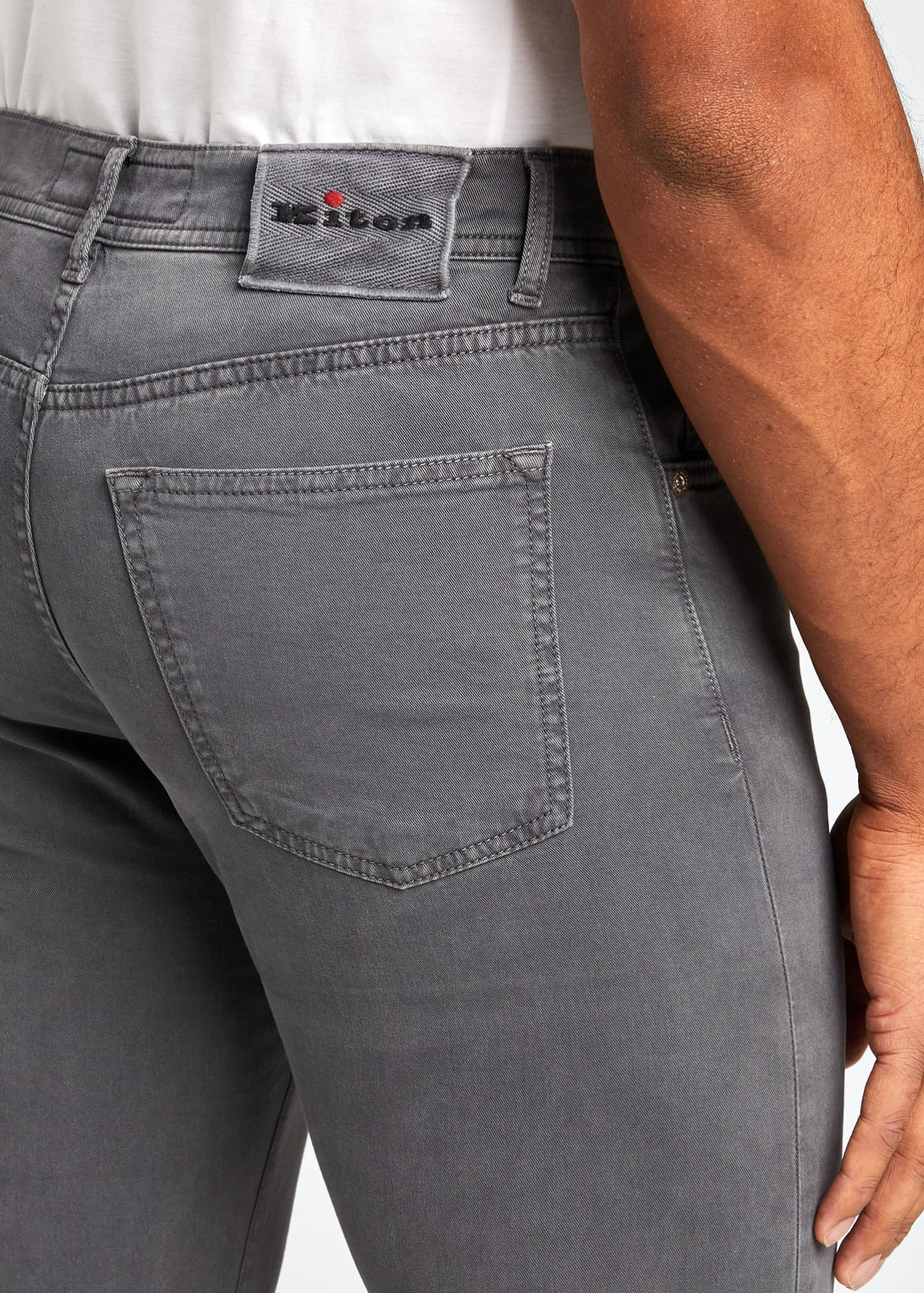 Image 4 of 5: Men's 5-Pocket Twill Pants