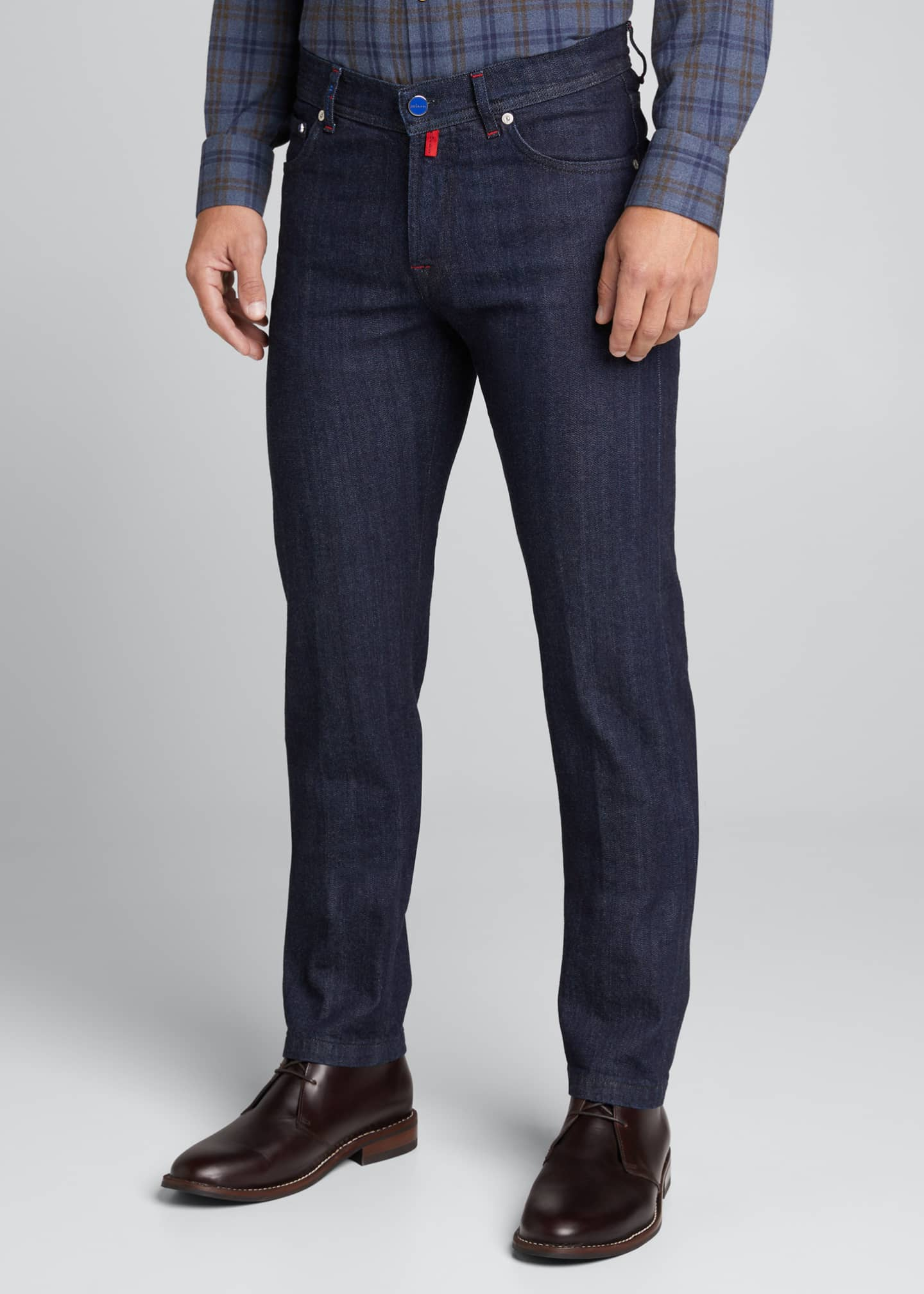 Image 3 of 4: Men's Classic Dark-Wash Jeans