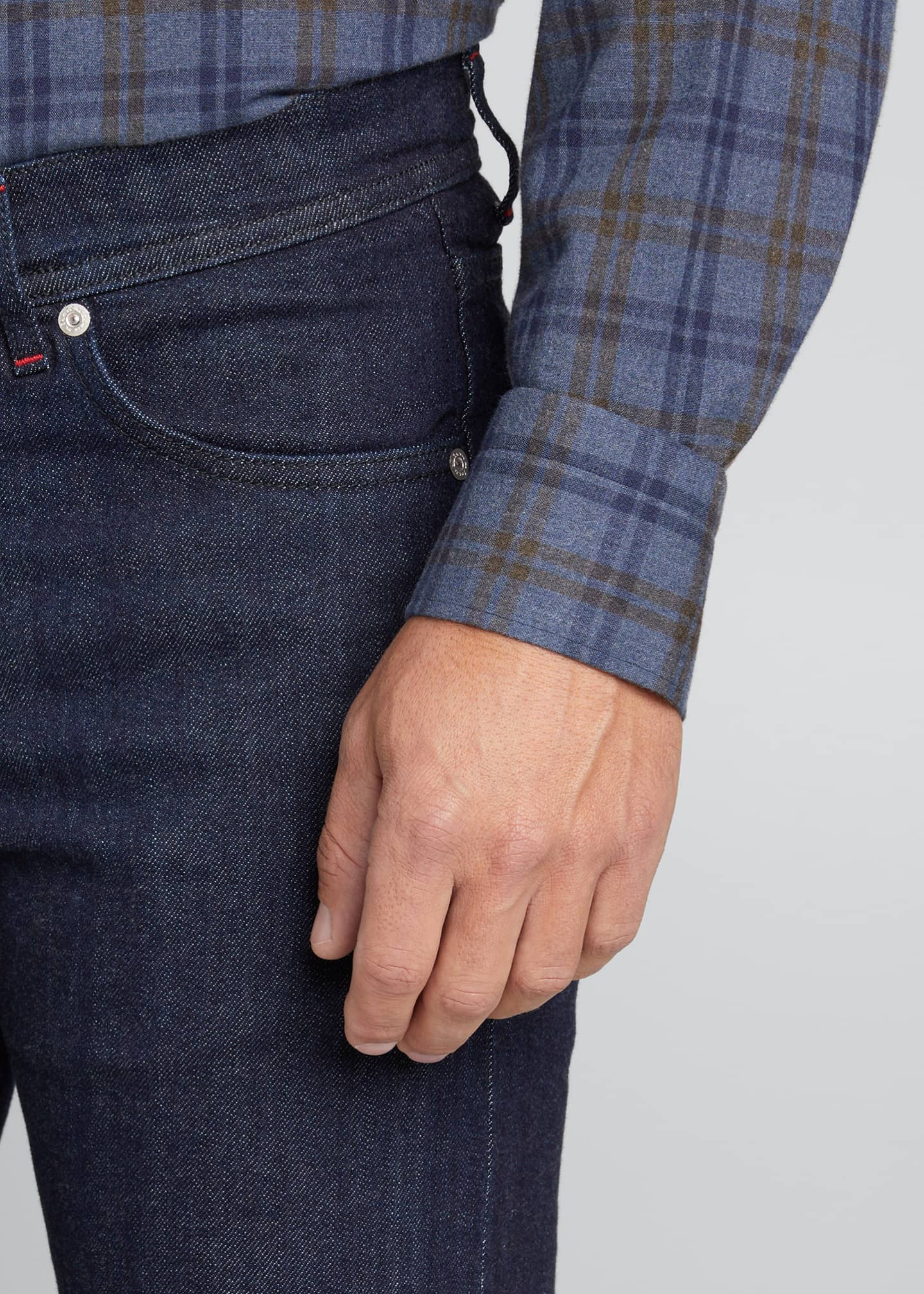 Image 4 of 4: Men's Classic Dark-Wash Jeans