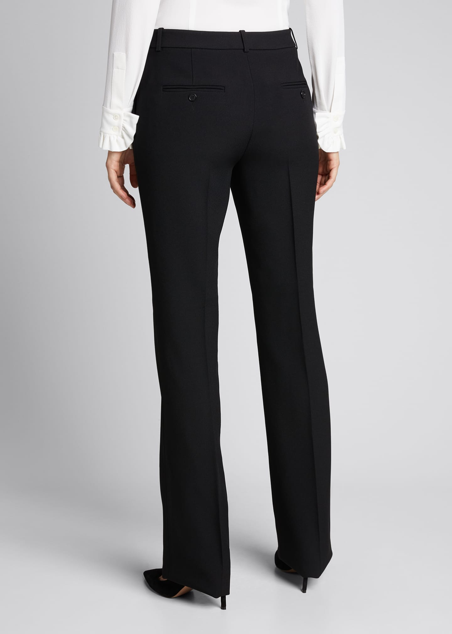 Image 2 of 5: Hansen Straight-Leg Crepe Trousers