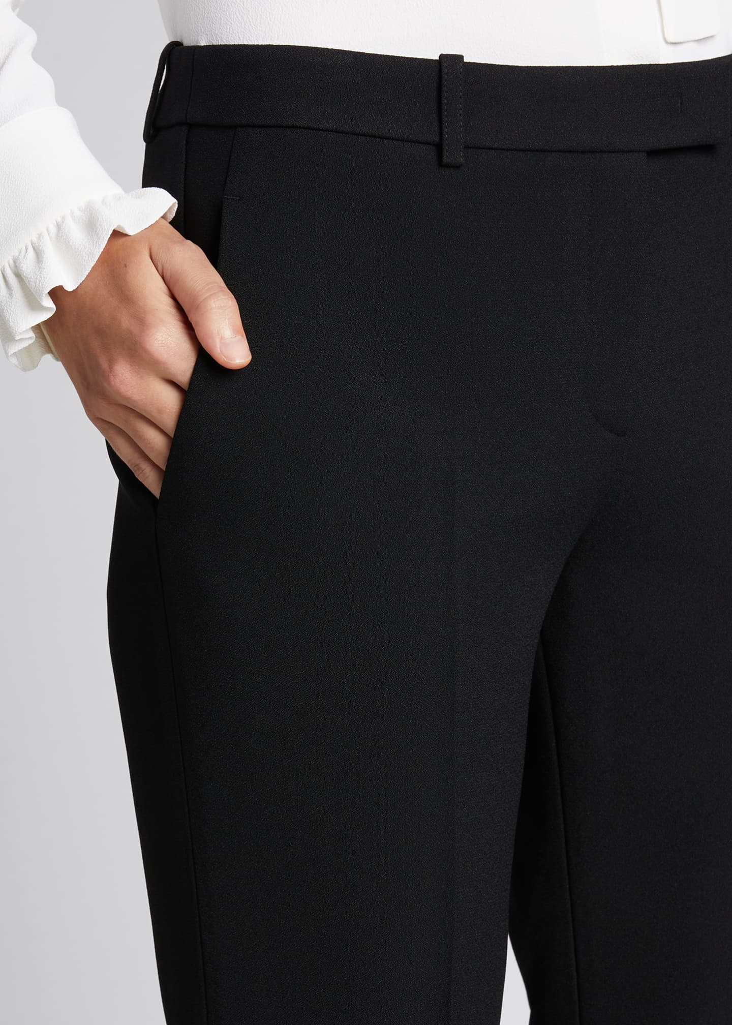 Image 4 of 5: Hansen Straight-Leg Crepe Trousers