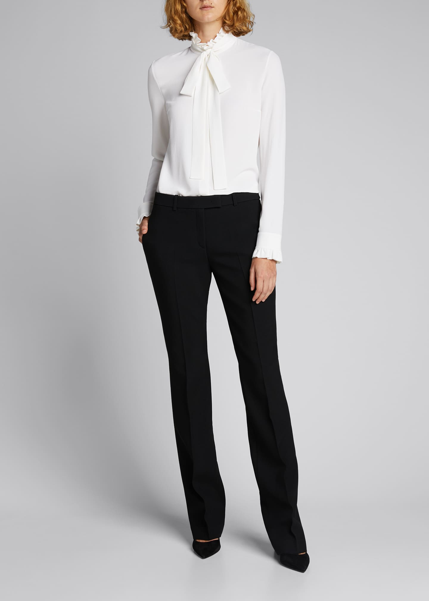 Hansen Straight-Leg Crepe Trousers