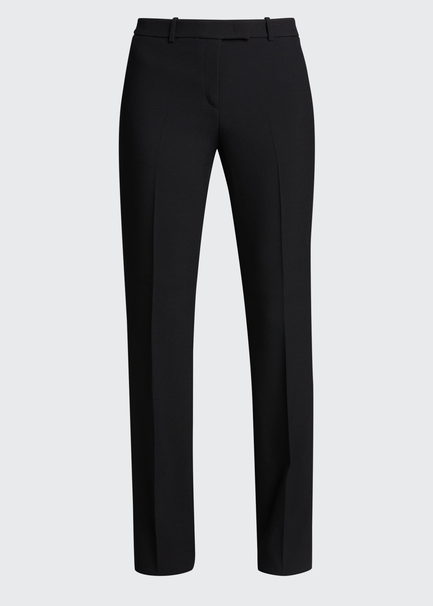 Image 5 of 5: Hansen Straight-Leg Crepe Trousers