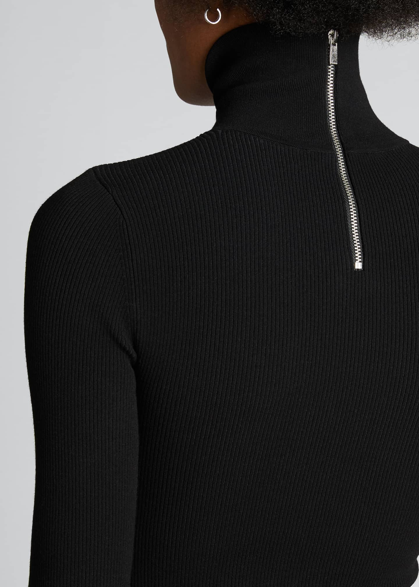 Image 4 of 5: Jersey Turtleneck Bodysuit