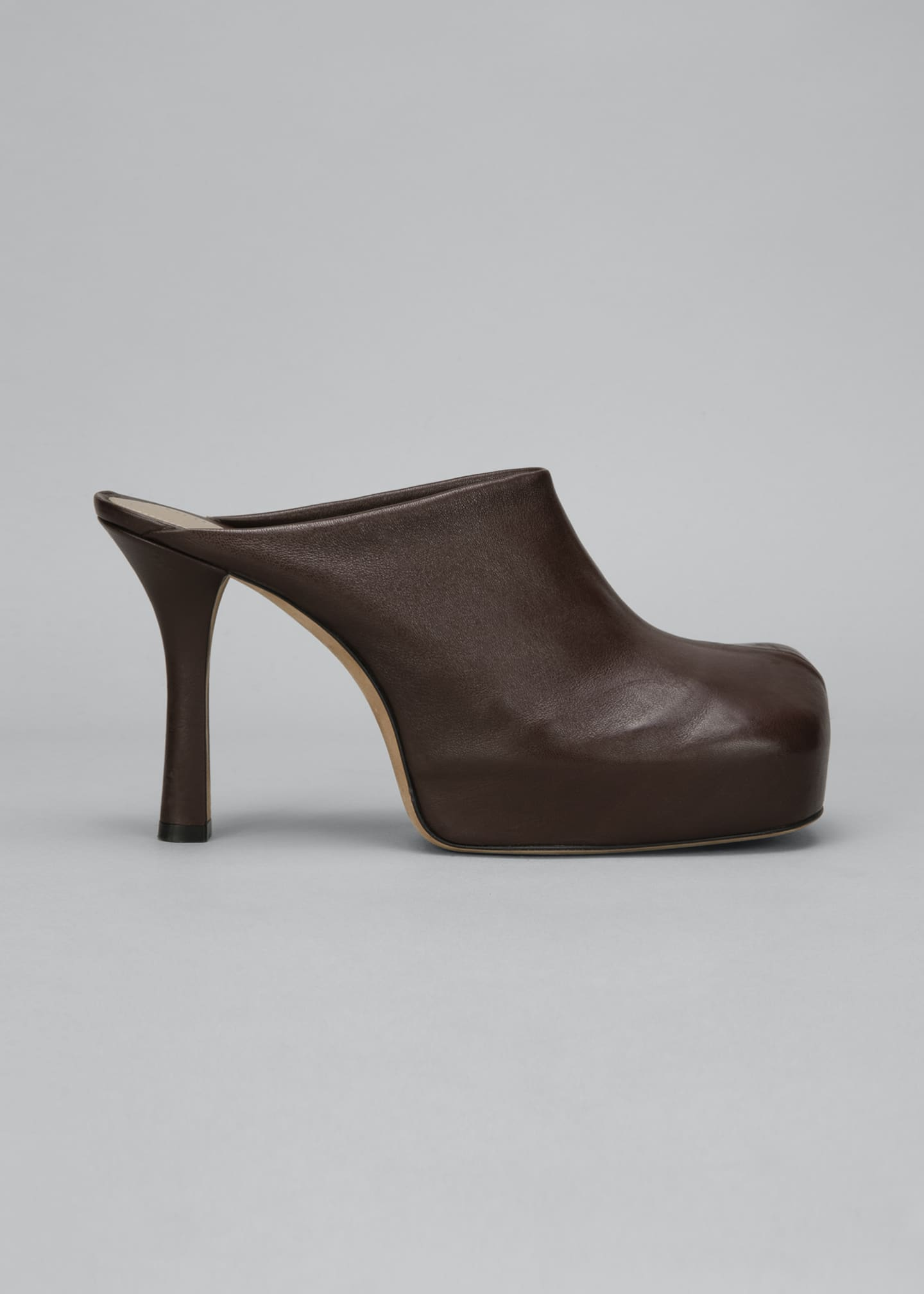 Image 1 of 4: Wave 105mm Platform Stretch Leather Mules