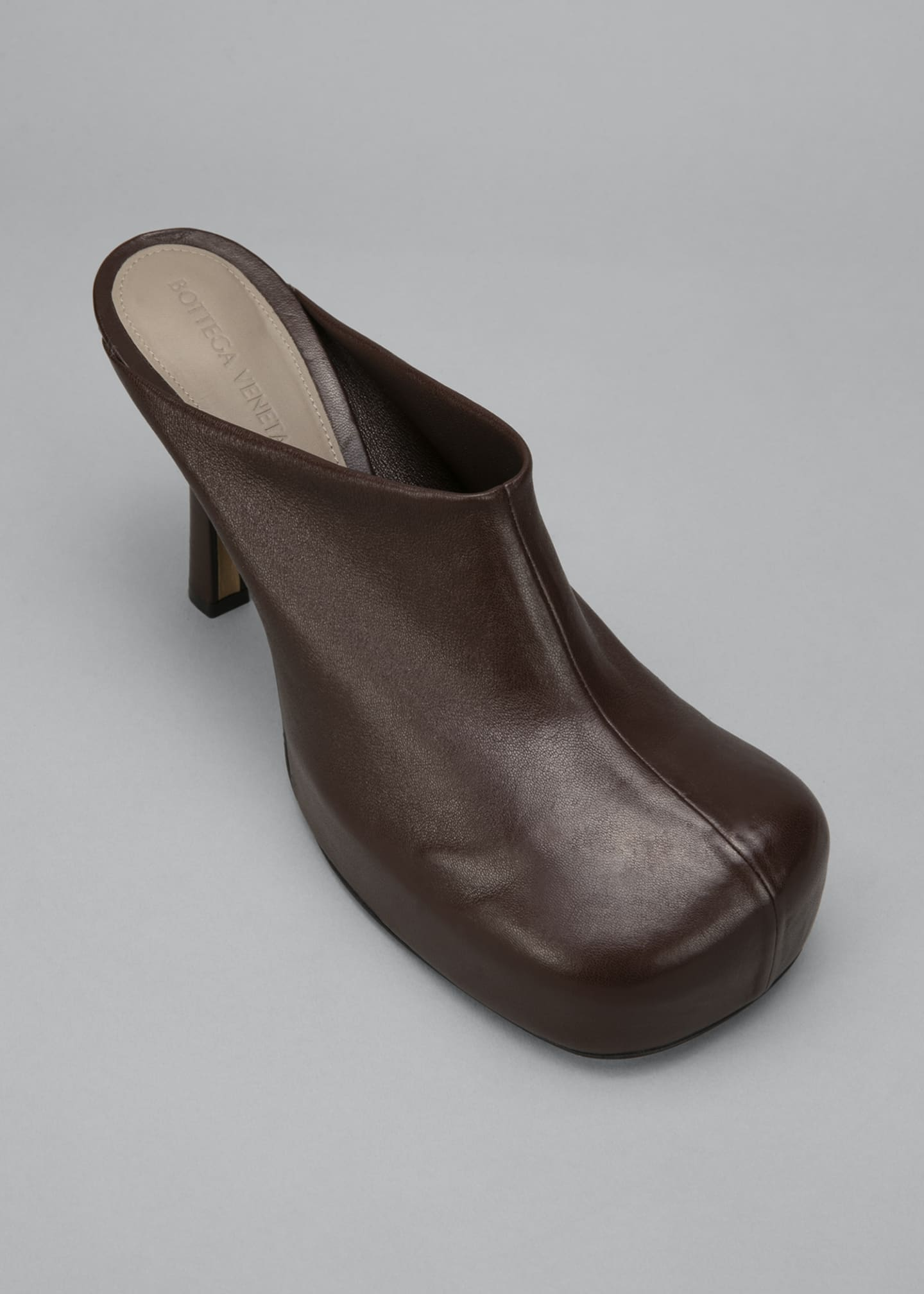Image 4 of 4: Wave 105mm Platform Stretch Leather Mules