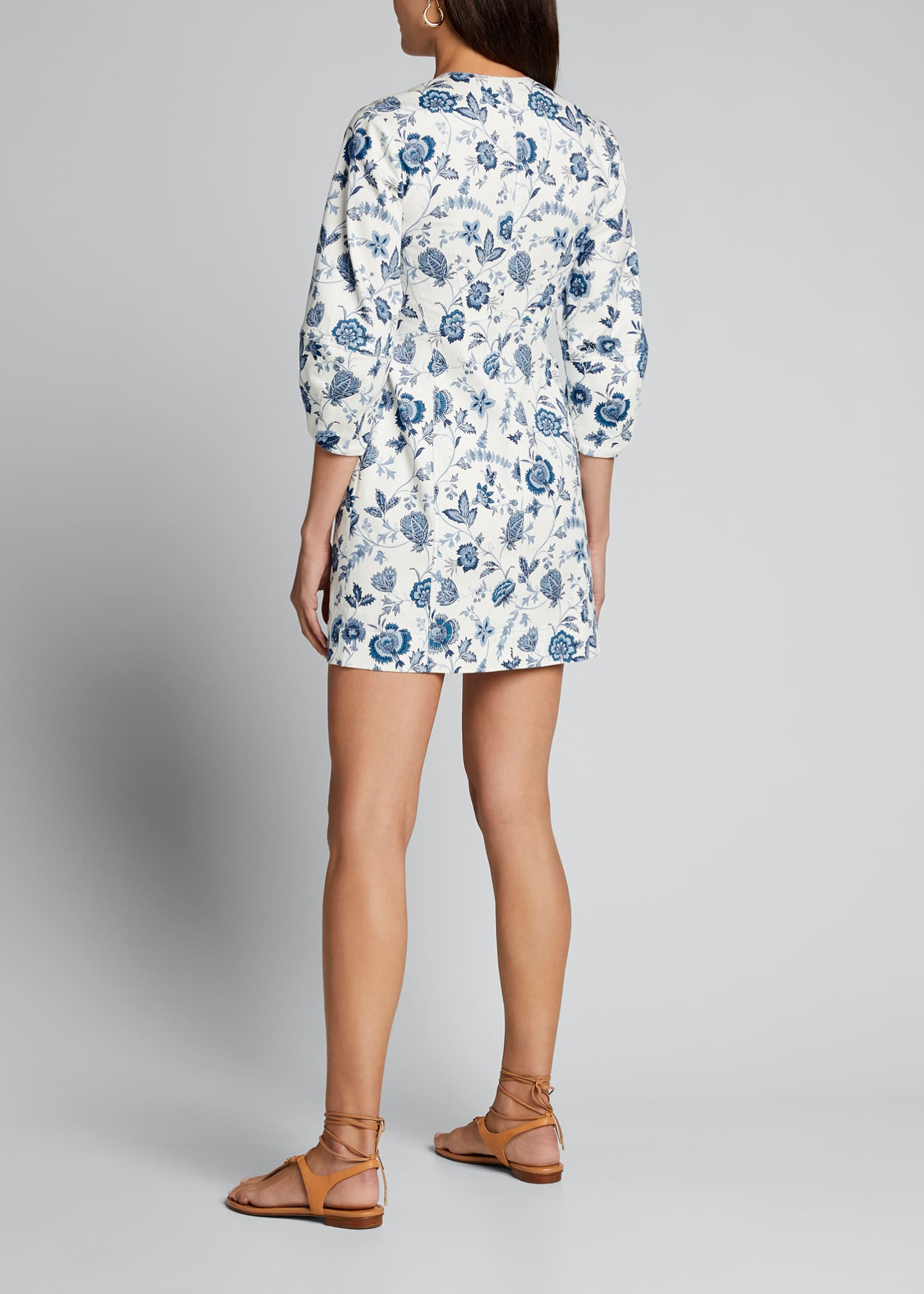 Image 2 of 5: Ottilie Floral Print 3/4-Sleeve Dress